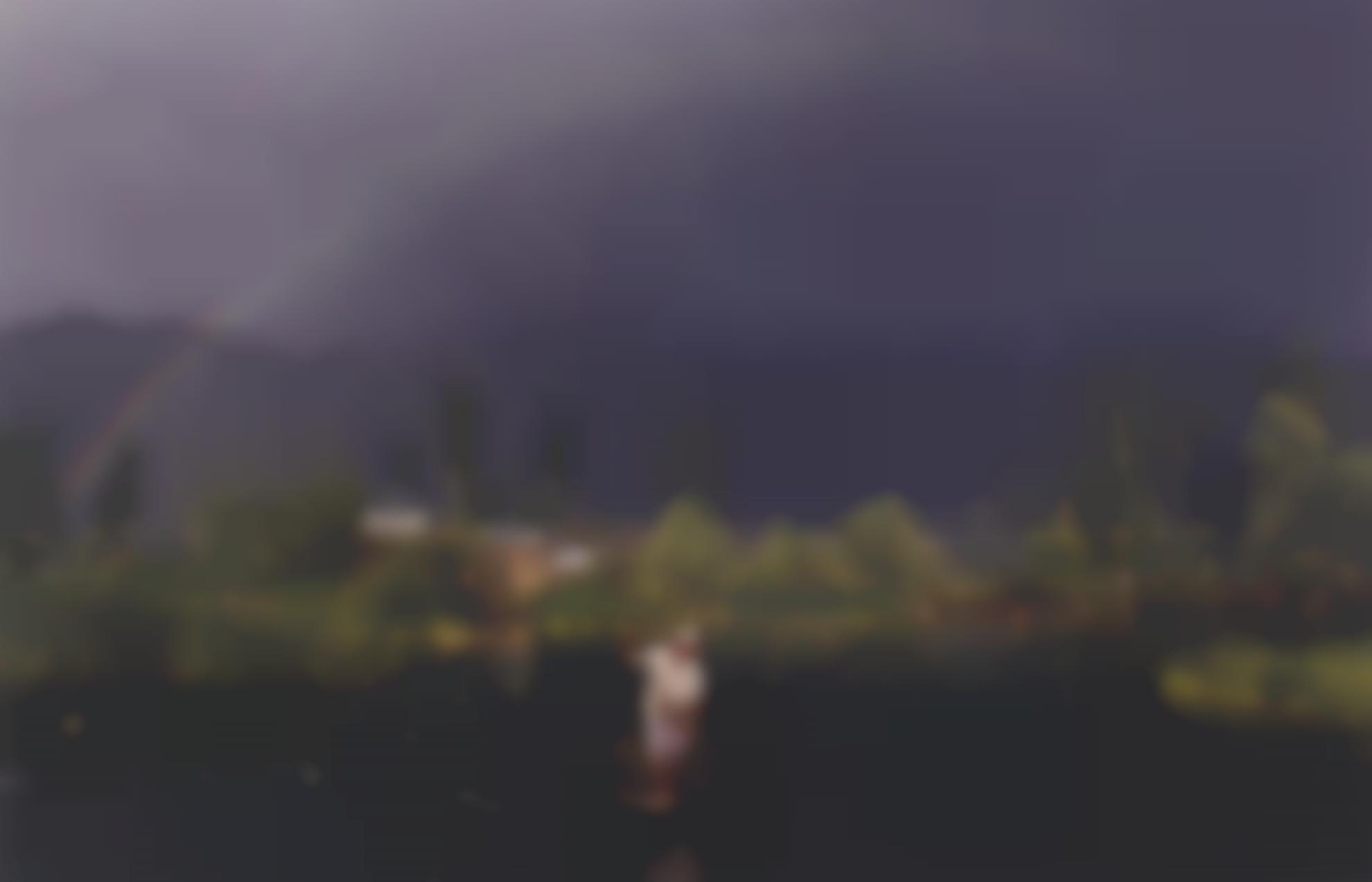 Raghubir Singh - Rainbow, Dal Lake, Kashmir-1980