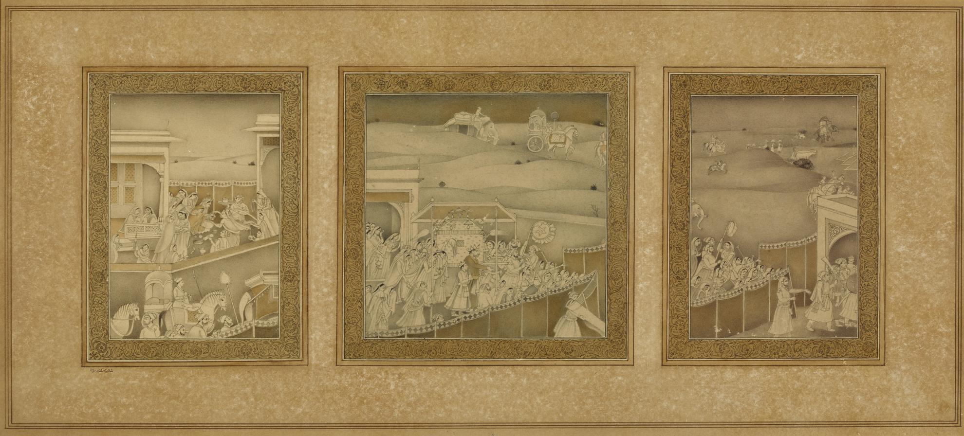 Shahzia Sikander-Untitled (Baraat)-1992