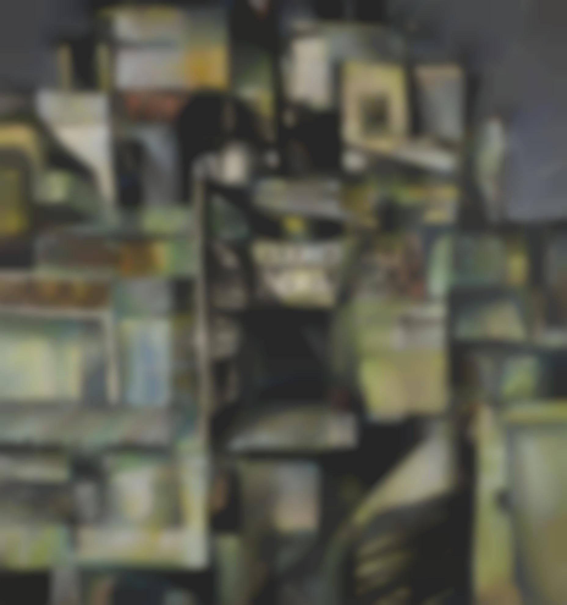 Bikash Bhattacharjee - Untitled (Rooftops)-1964