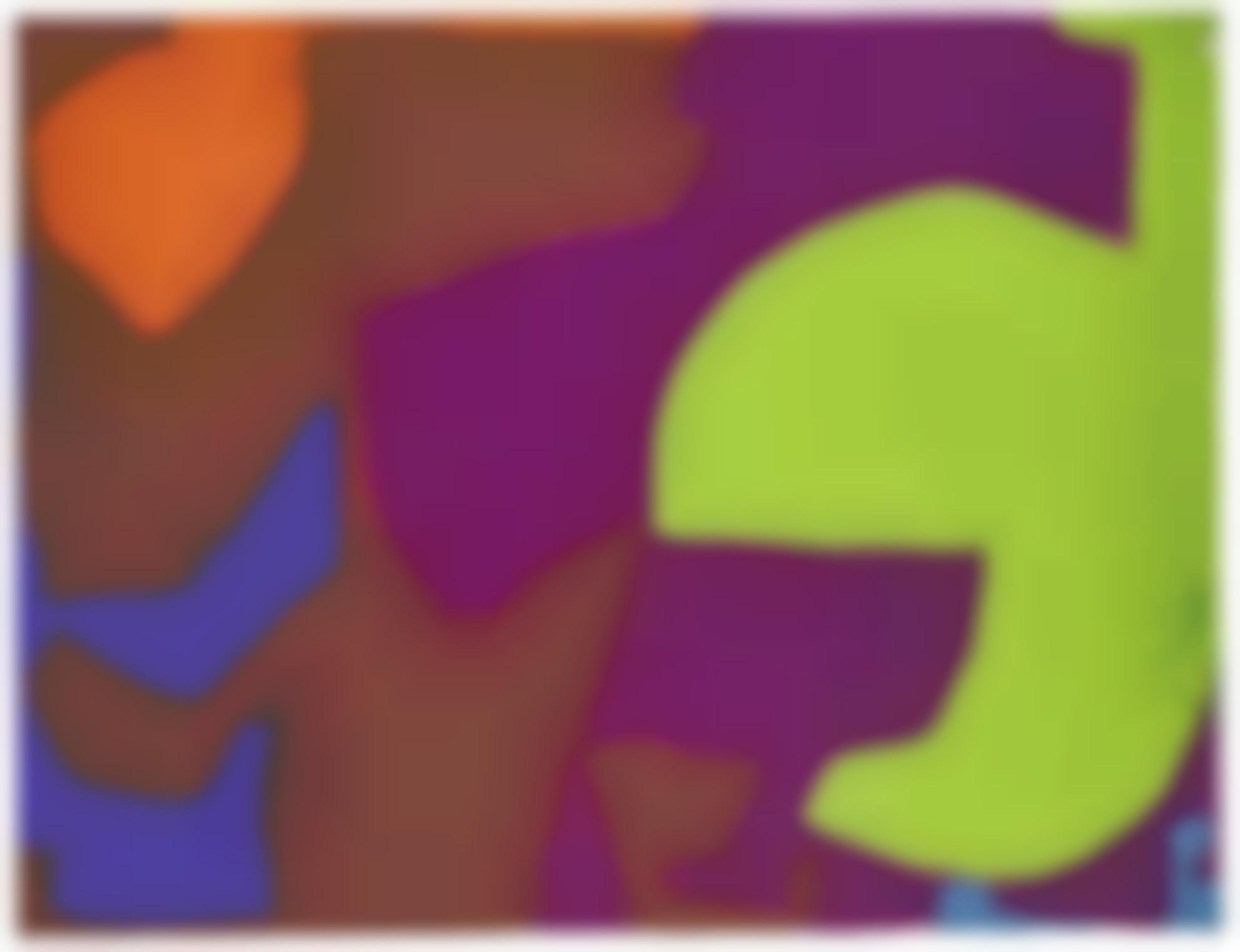 Patrick Heron-Emerald, Violet, Brown, Blue, Orange: February - January 1971-
