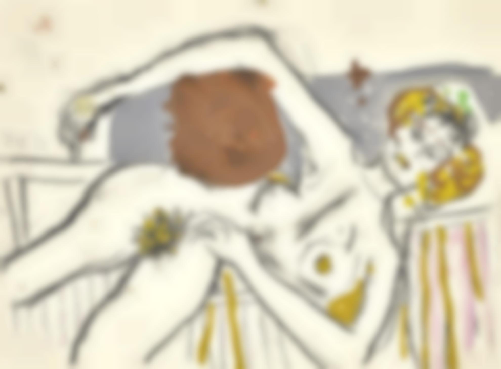Roger Hilton-Reclining Nude-1974