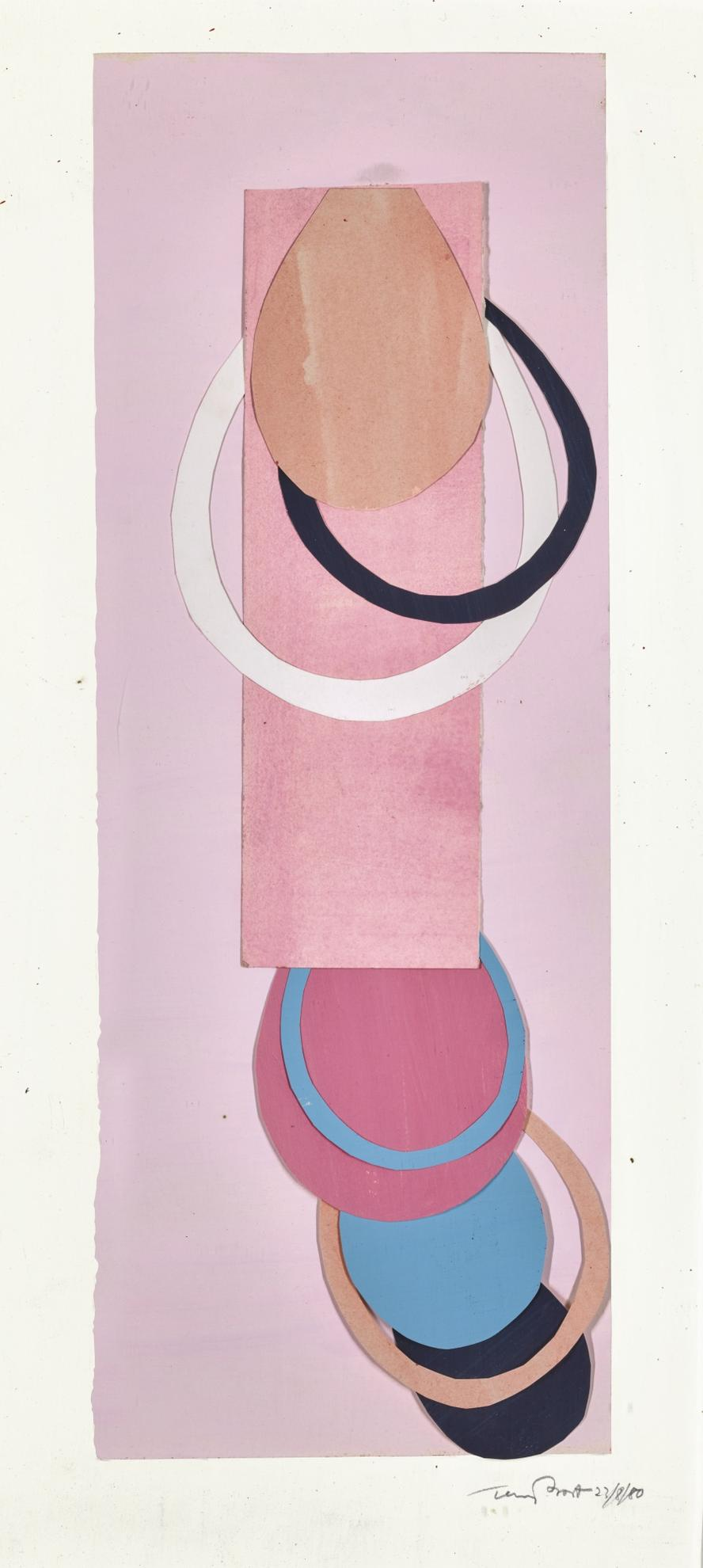 Terry Frost-Pink Collage-1980