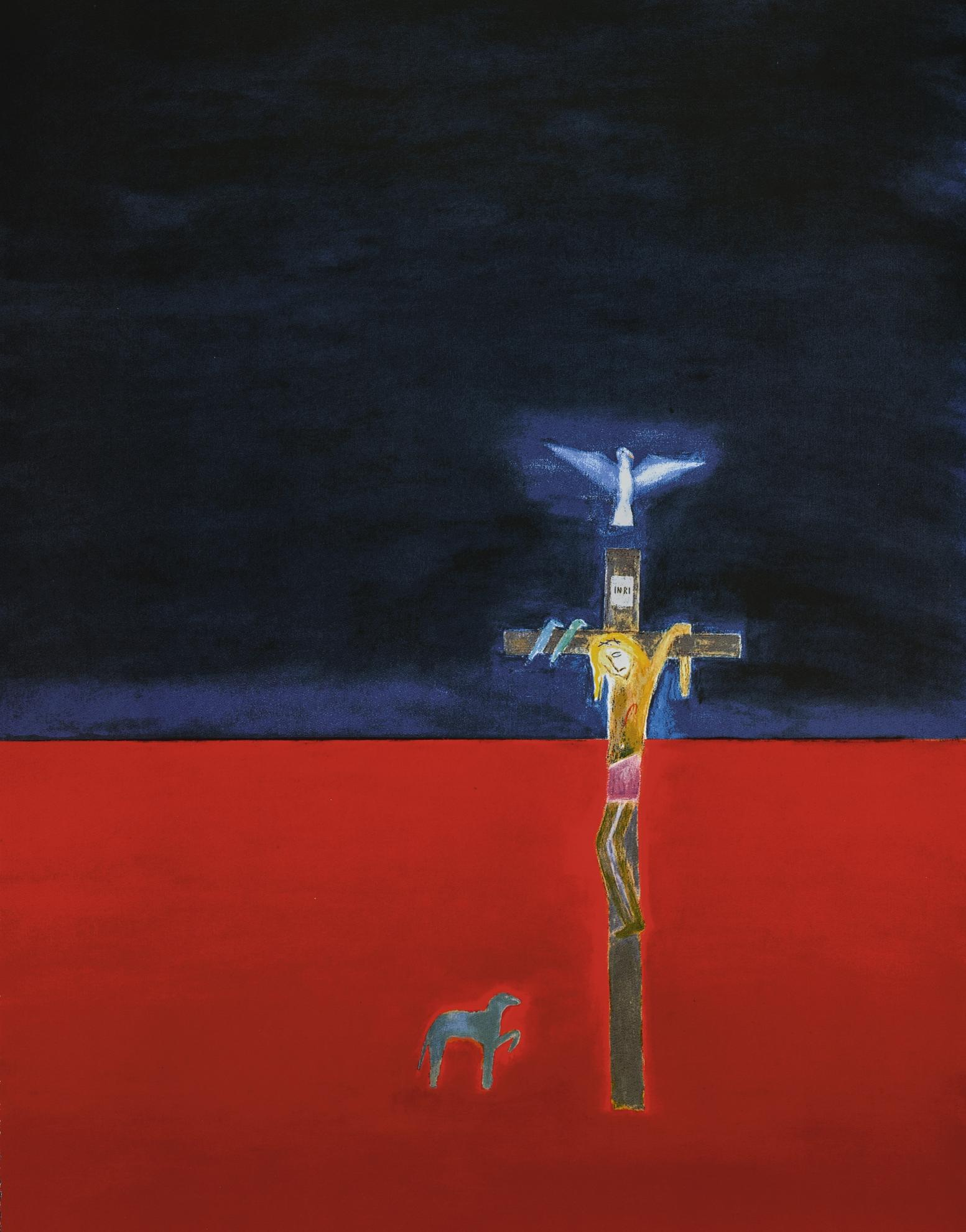 Craigie Aitchison-Crucifixion 2001-2001