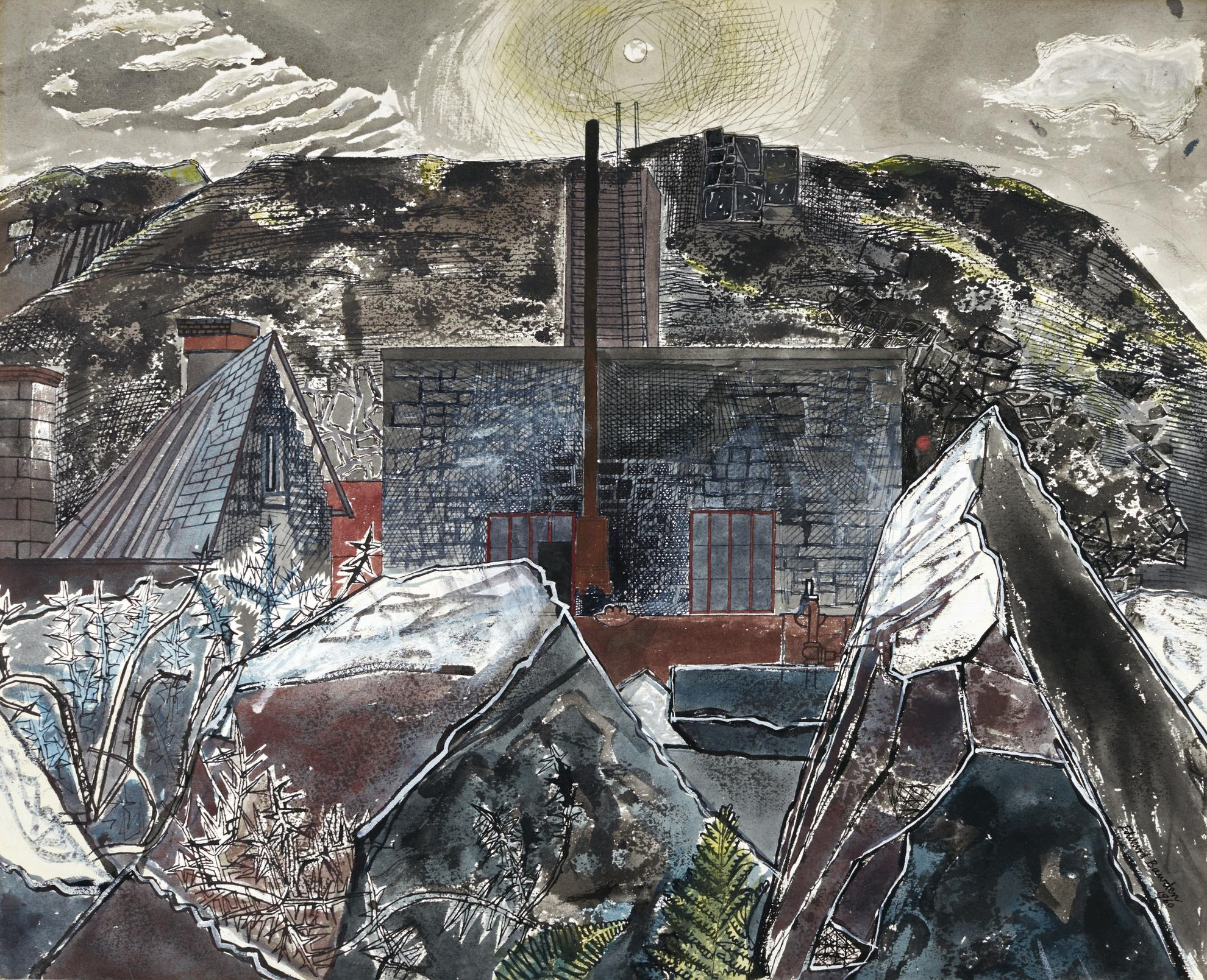 Edward Bawden-The Engine House, Cornwall-1960