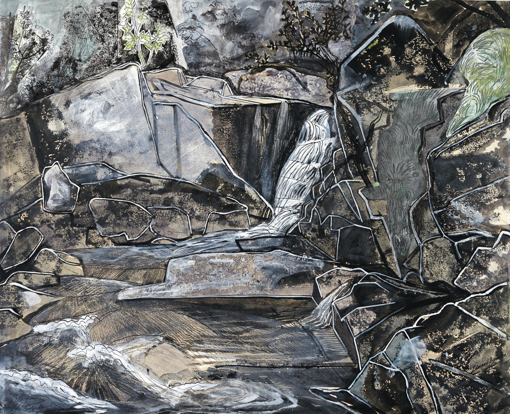 Edward Bawden-The De Lank River, Cornwall-1960