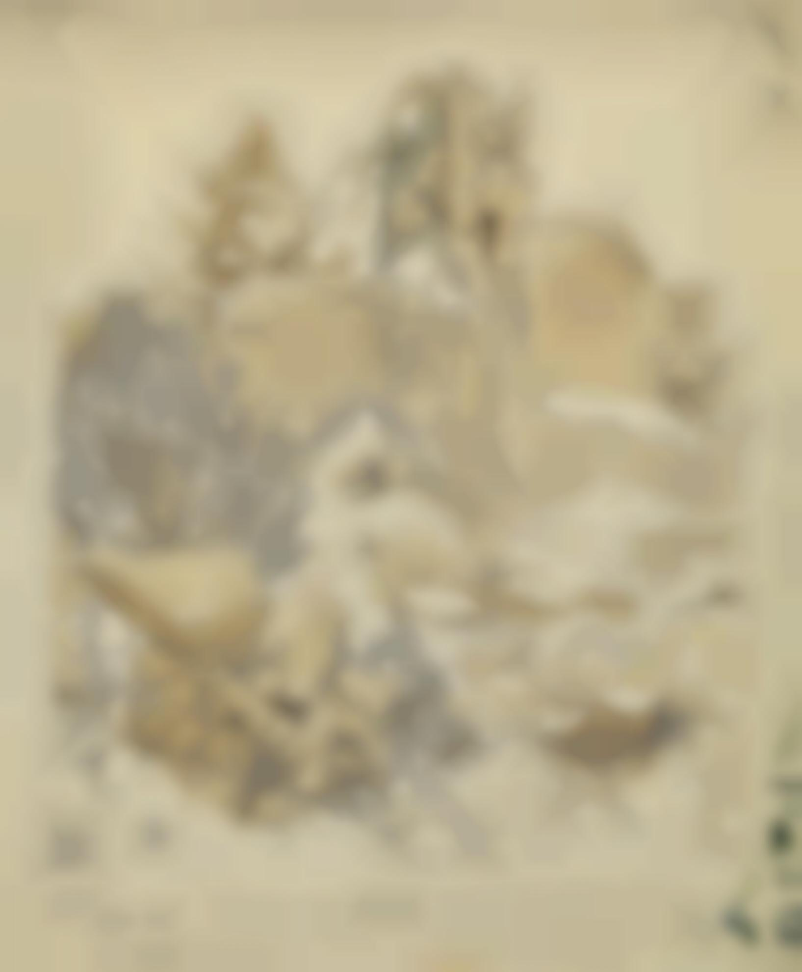 Eliot Hodgkin-Sketch For London Wall From Aldermanbury Postern-1945