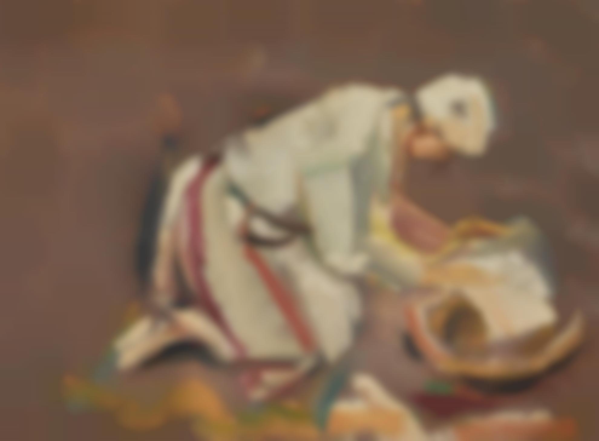 David Bomberg-The Arab, Baker Of Bread, Palestine-1928