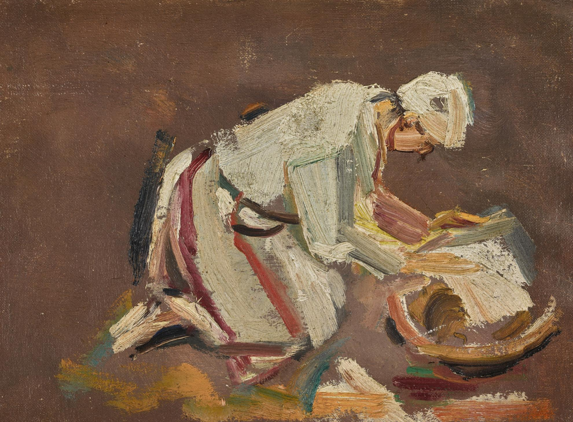 David Bomberg-The Arab, Baker Of Bread, Palestine-1928