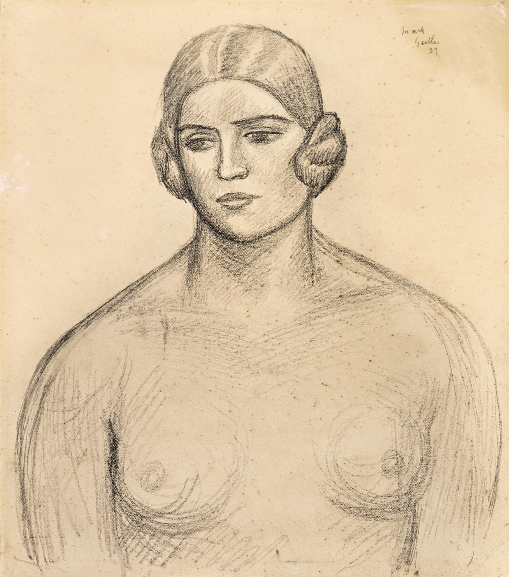 Mark Gertler - Portrait Of A Woman-1929