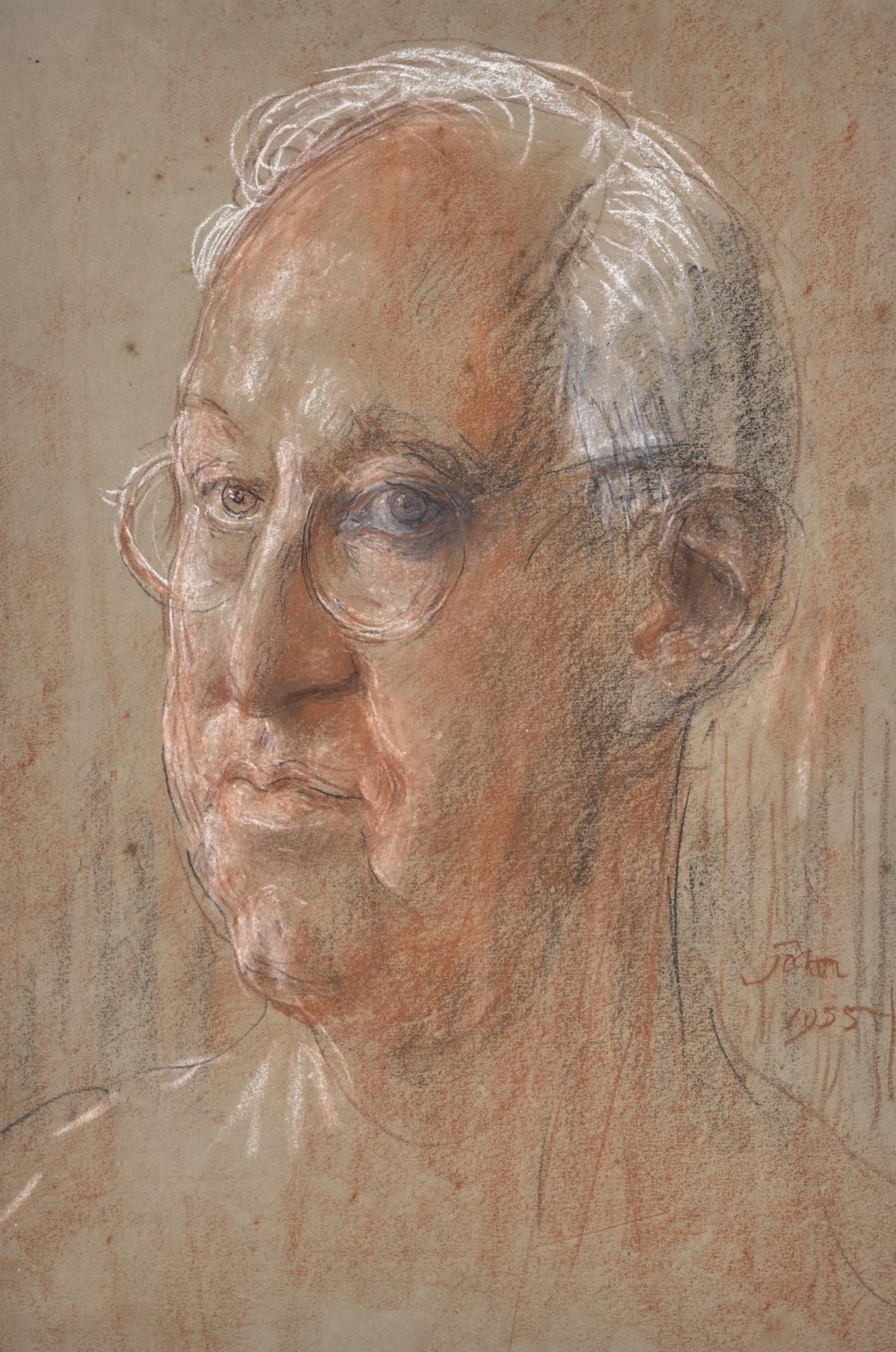Augustus Edwin John-Portrait Of A Man-1955