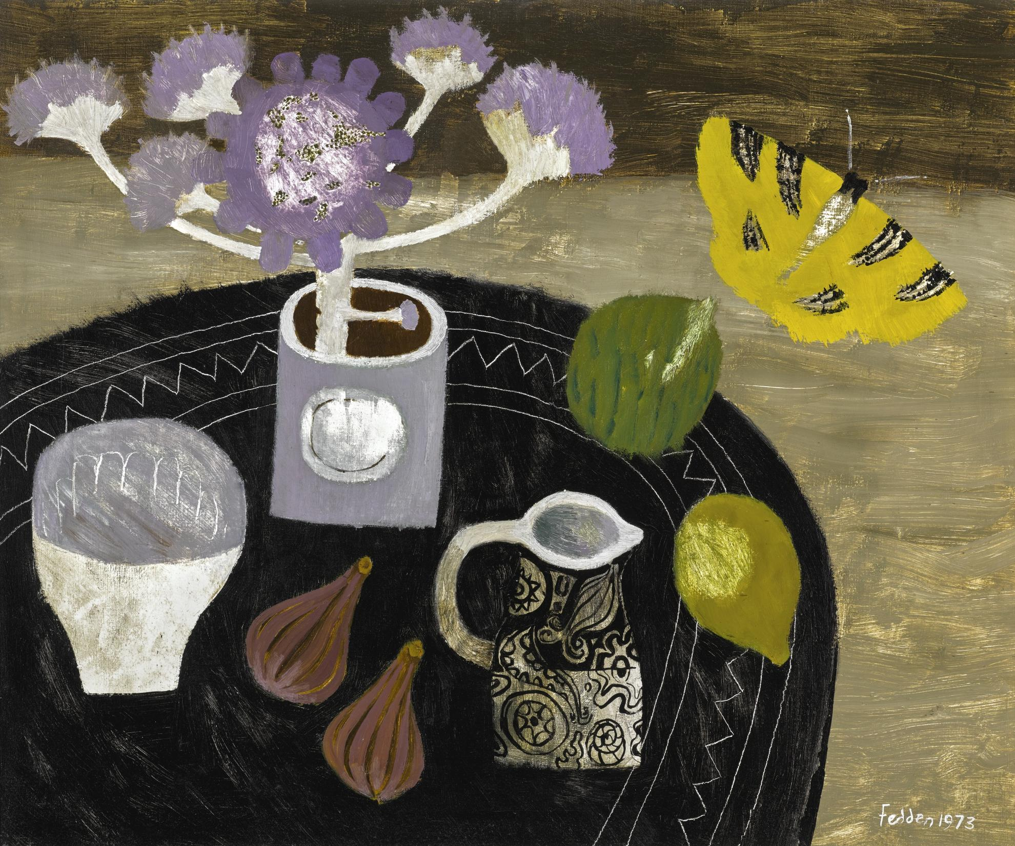 Mary Fedden-Yellow Butterfly-1973