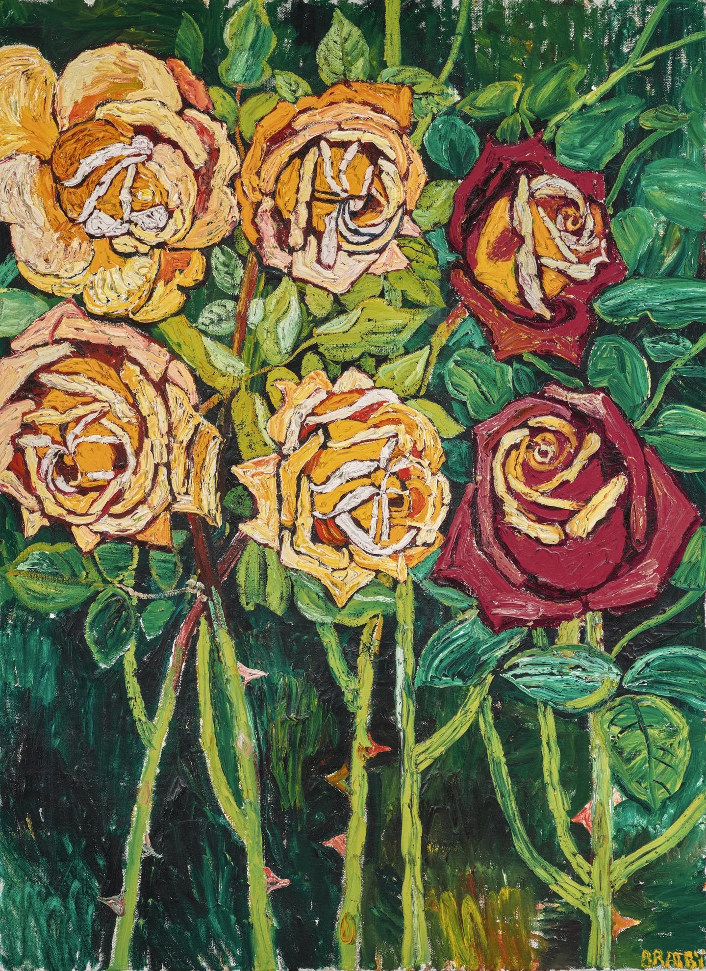 John Bratby-Roses-1968
