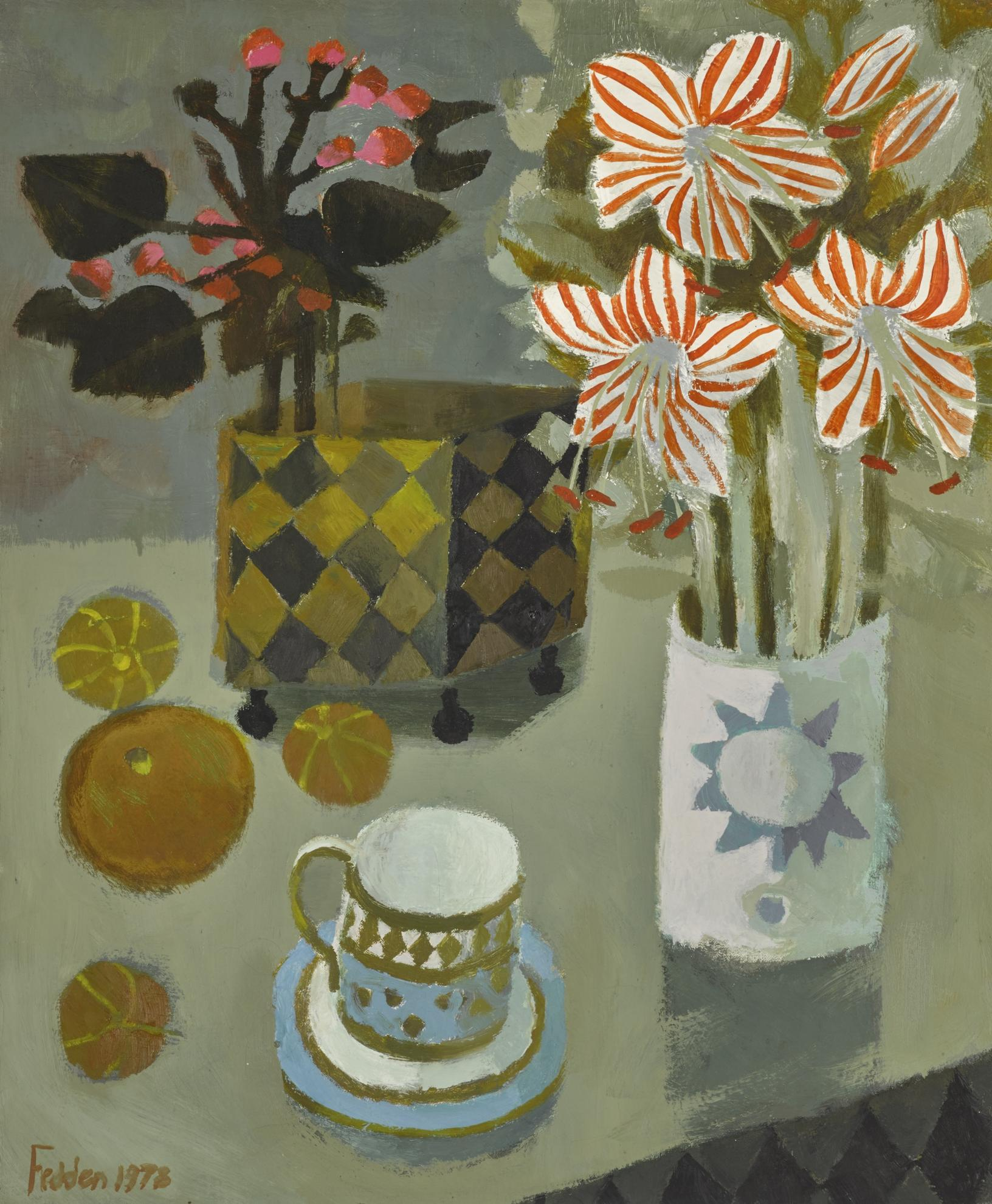 Mary Fedden-Striped Lilies-1978