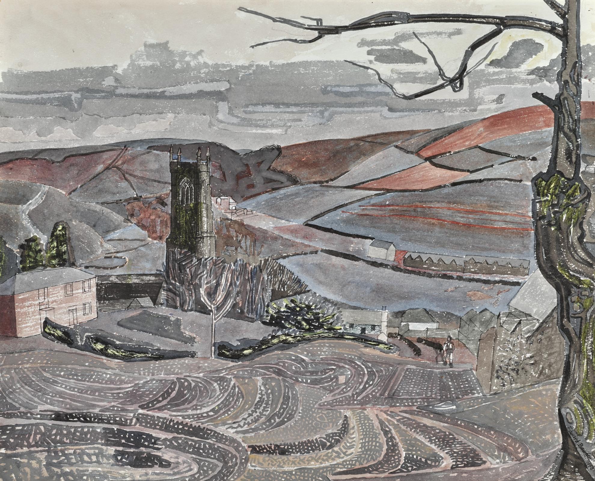 Edward Bawden-St. Neot, Cornwall, No. 2-1958