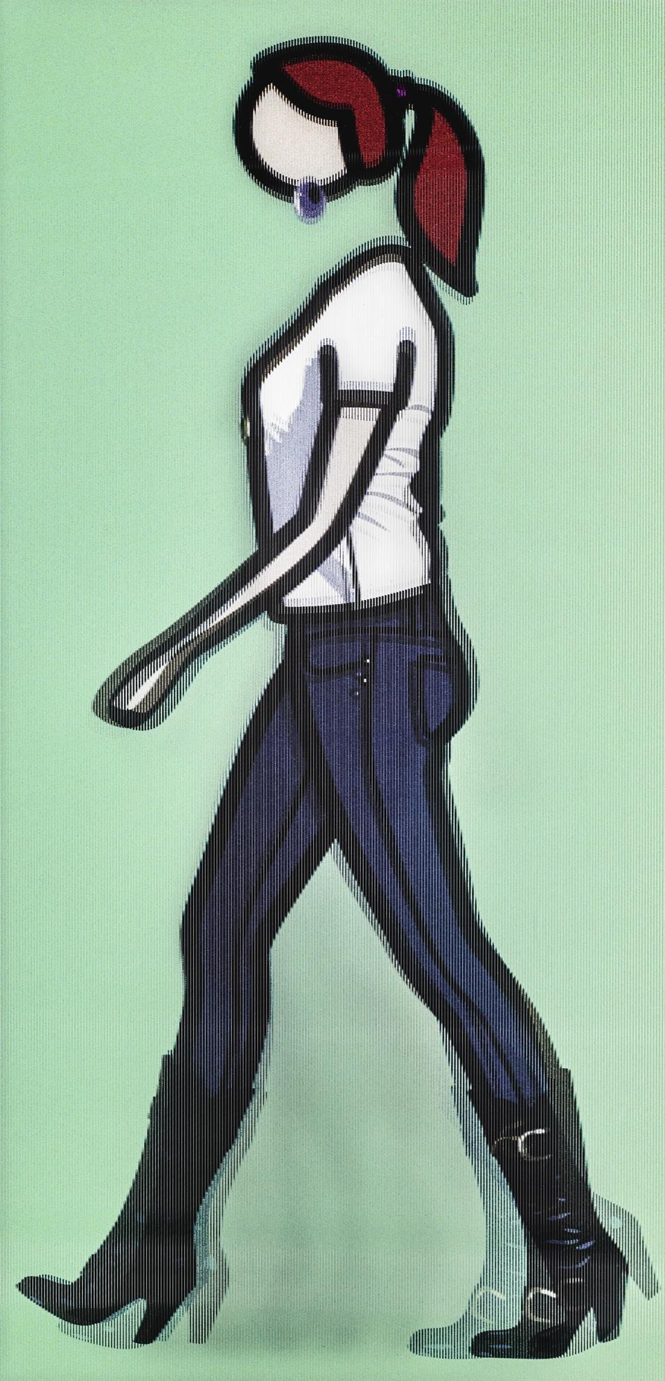 Julian Opie-Tina Walking (C. 143)-2010