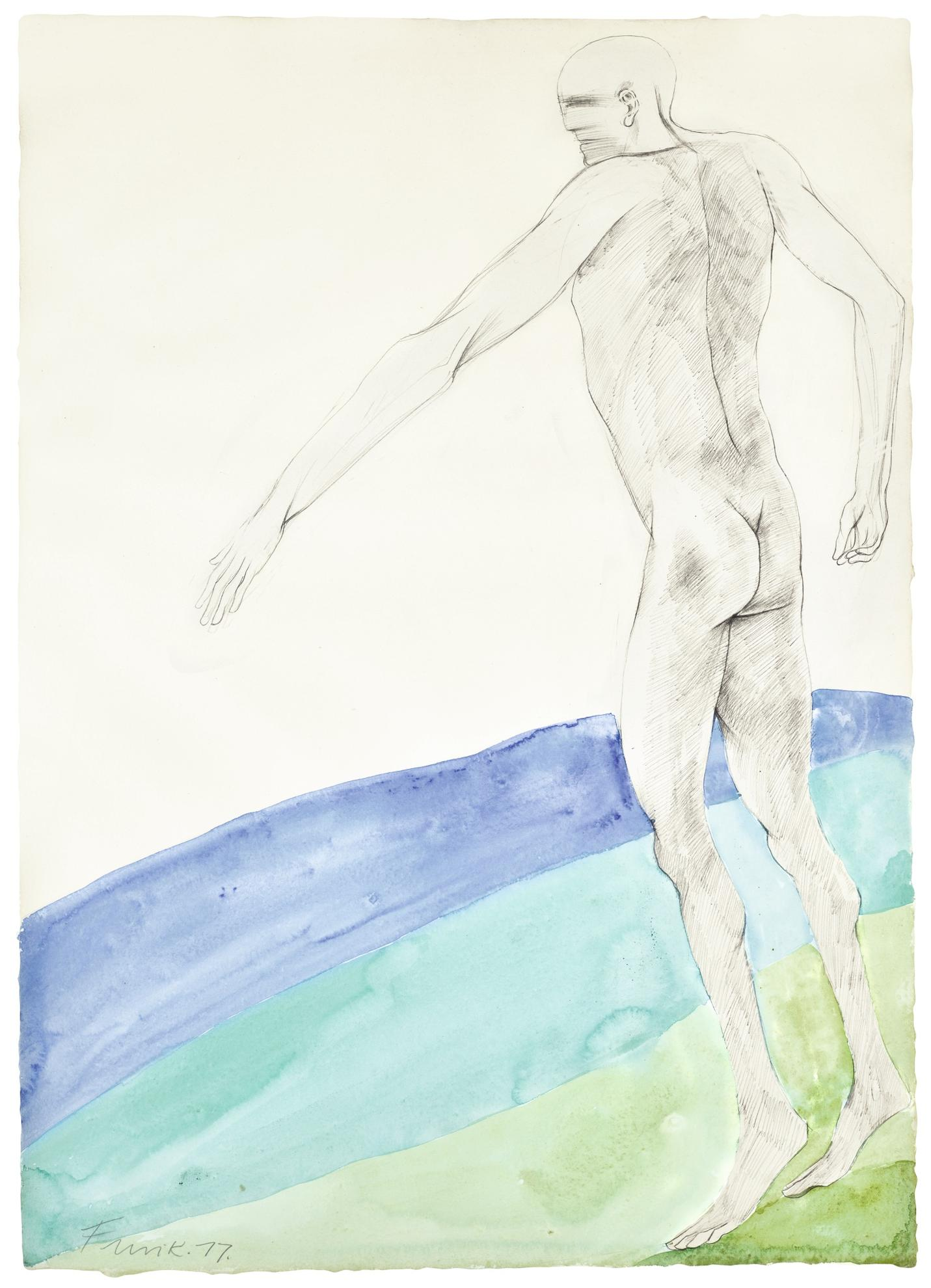 Elisabeth Frink-Walking Man-1977