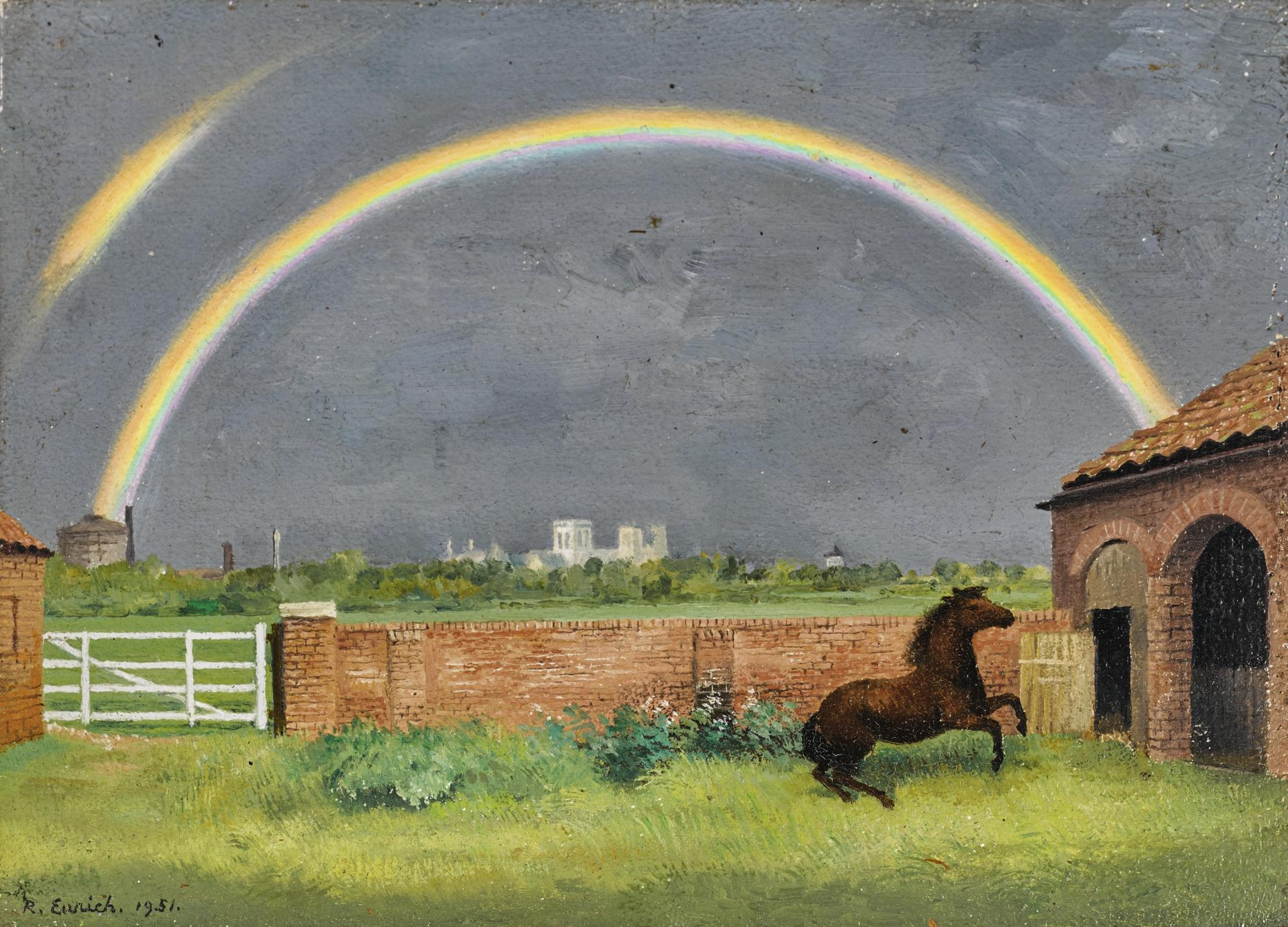 Richard Eurich-Rainbow And Pony, York-1951