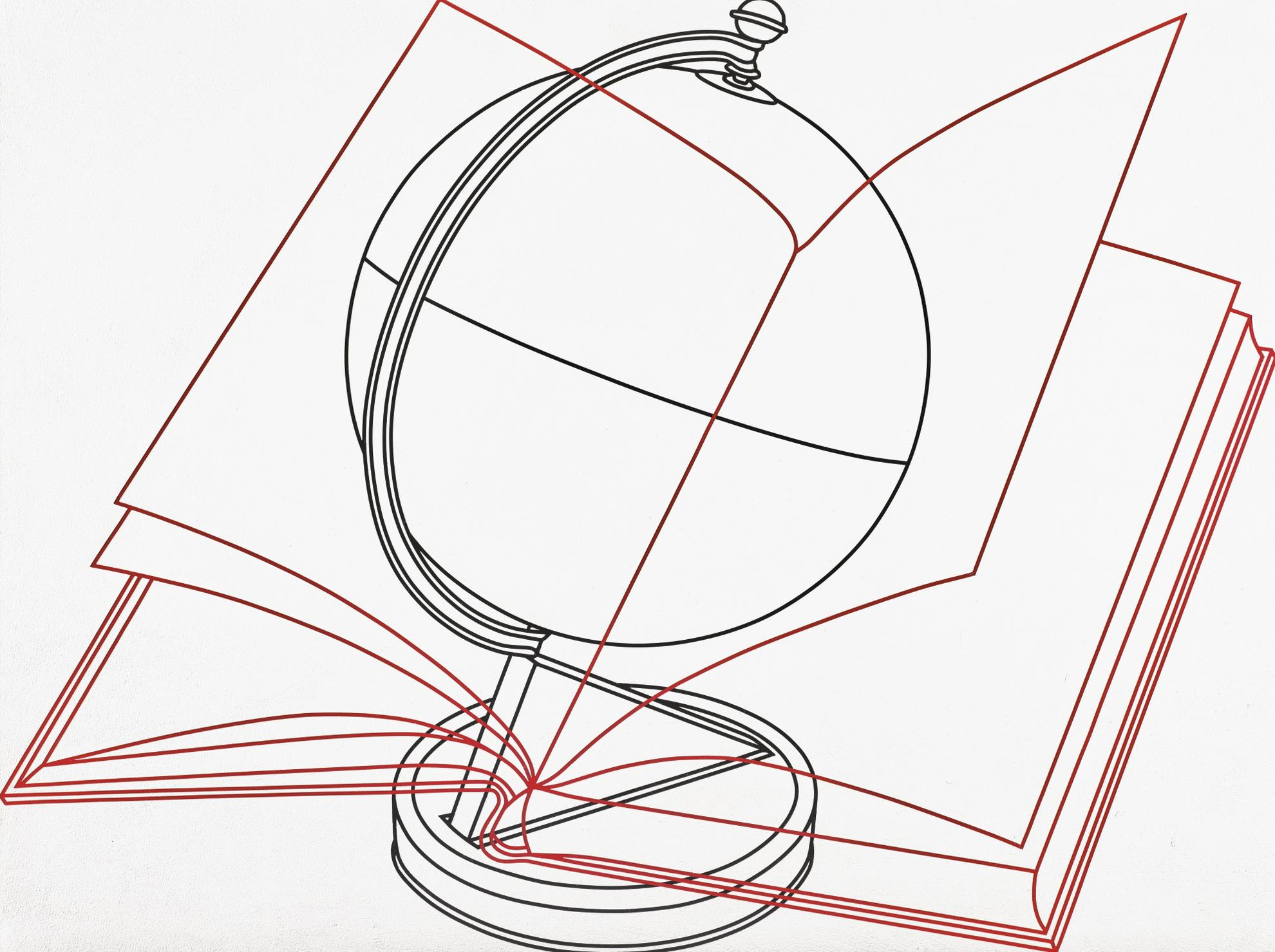 Michael Craig-Martin-Globe And Book-1992