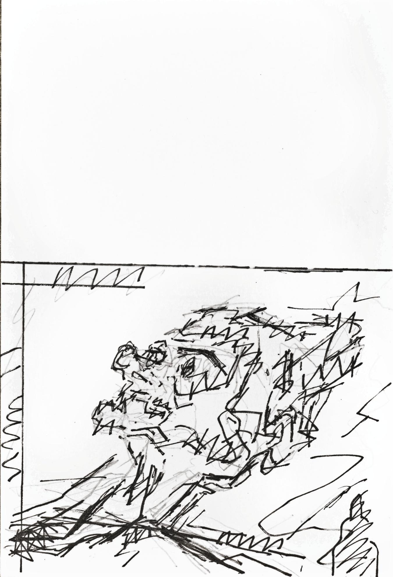 Frank Auerbach-Reclining Head Of Julia-1994