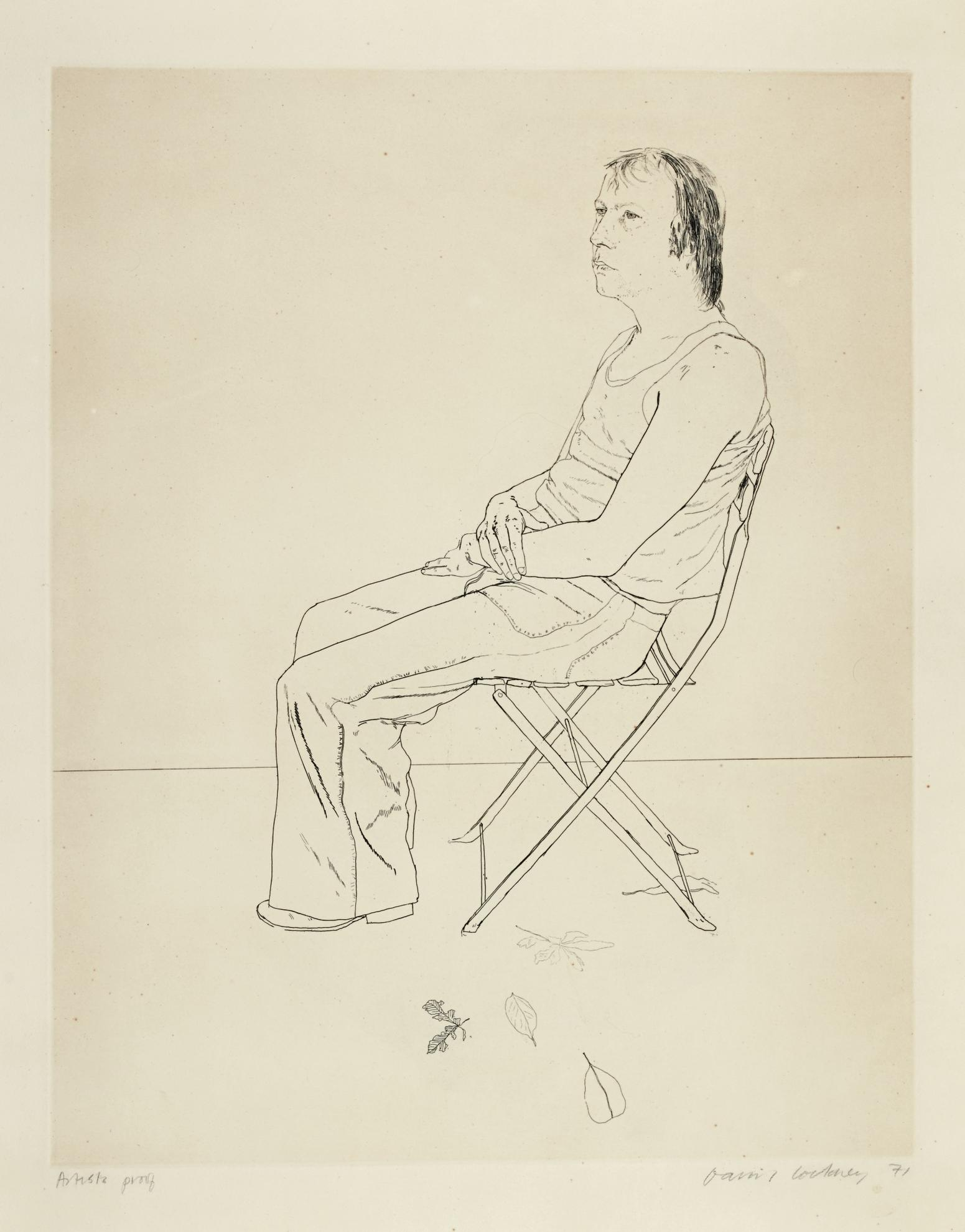 David Hockney-Mo With Five Leaves (S.A.C. 125; Mca Tokyo 117)-1971
