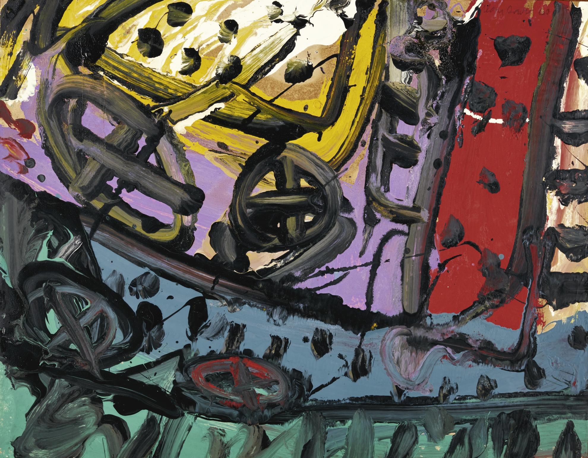 Alan Davie-Romp On Wheels, No. 1-1960
