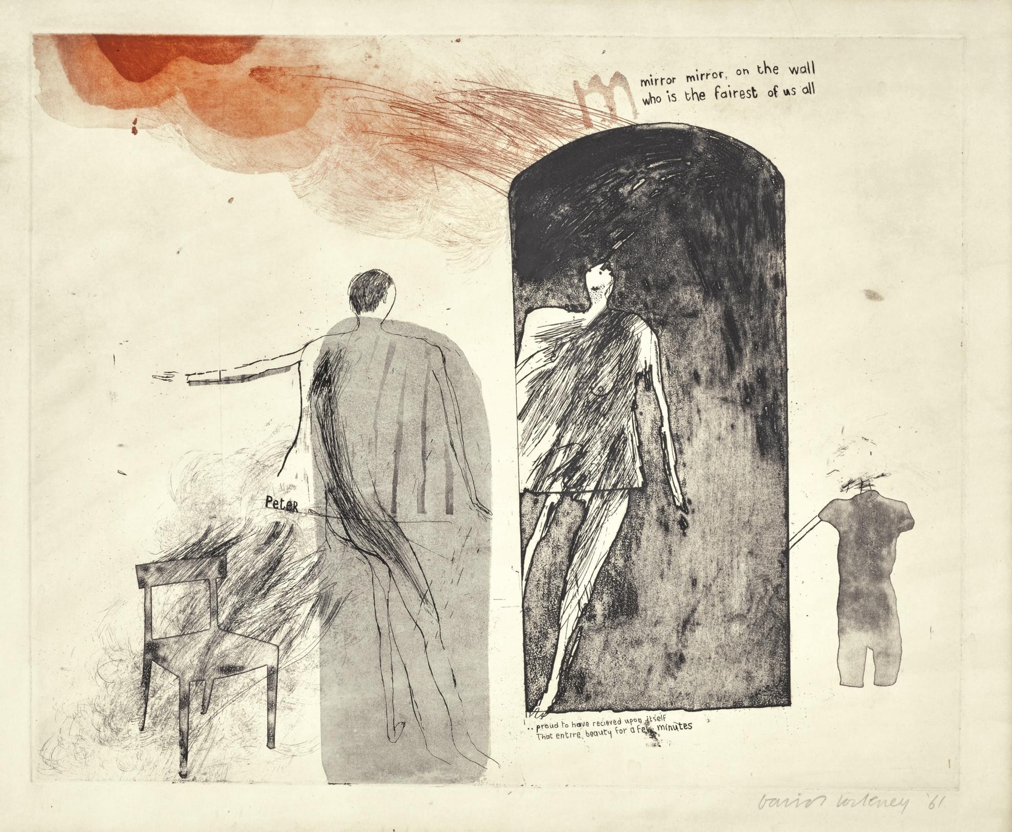 David Hockney-Mirror, Mirror On The Wall (S.A.C., Mca Tokyo 10)-1961