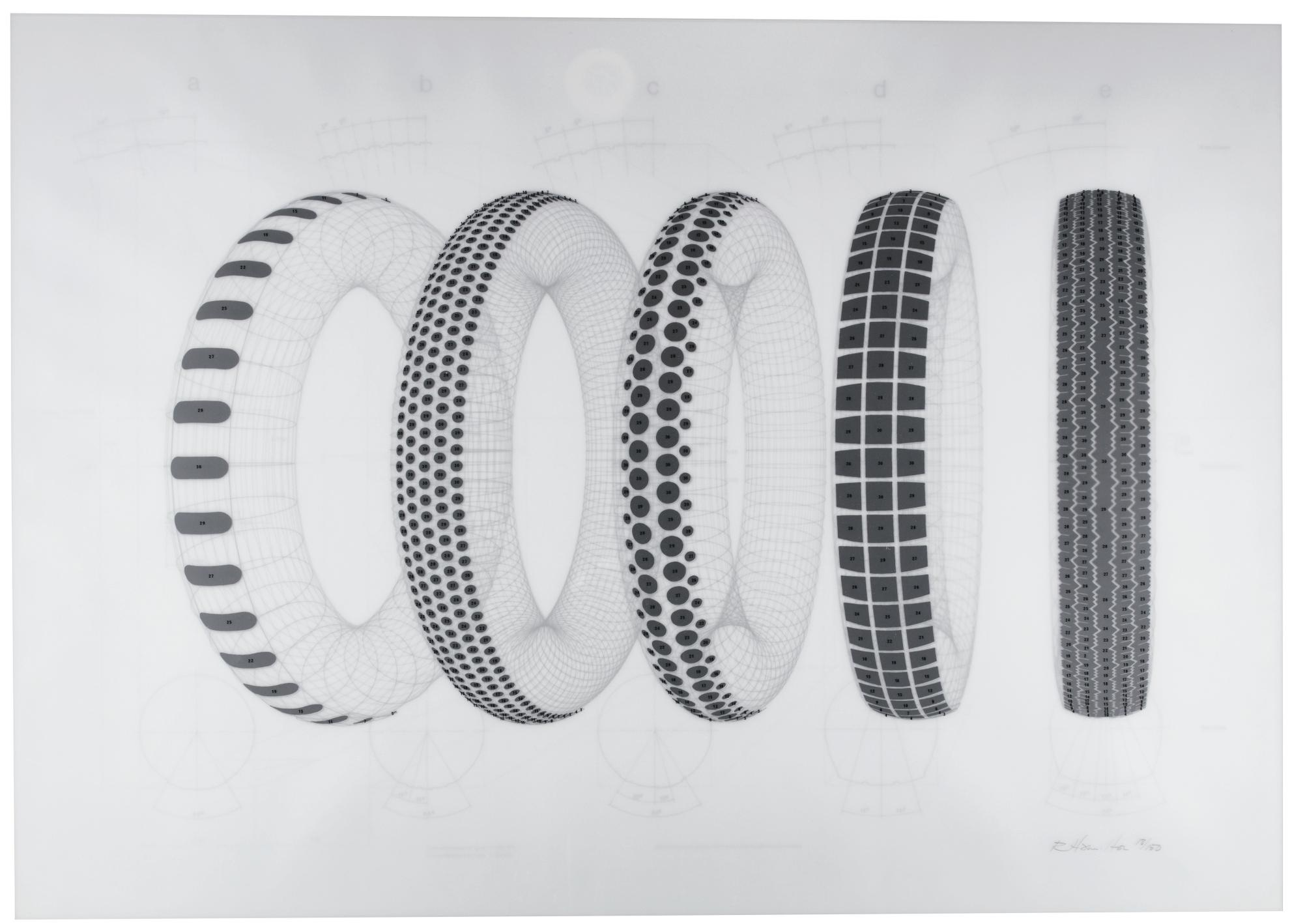 Richard Hamilton-Five Tyres Remoulded (L. 79)-1971
