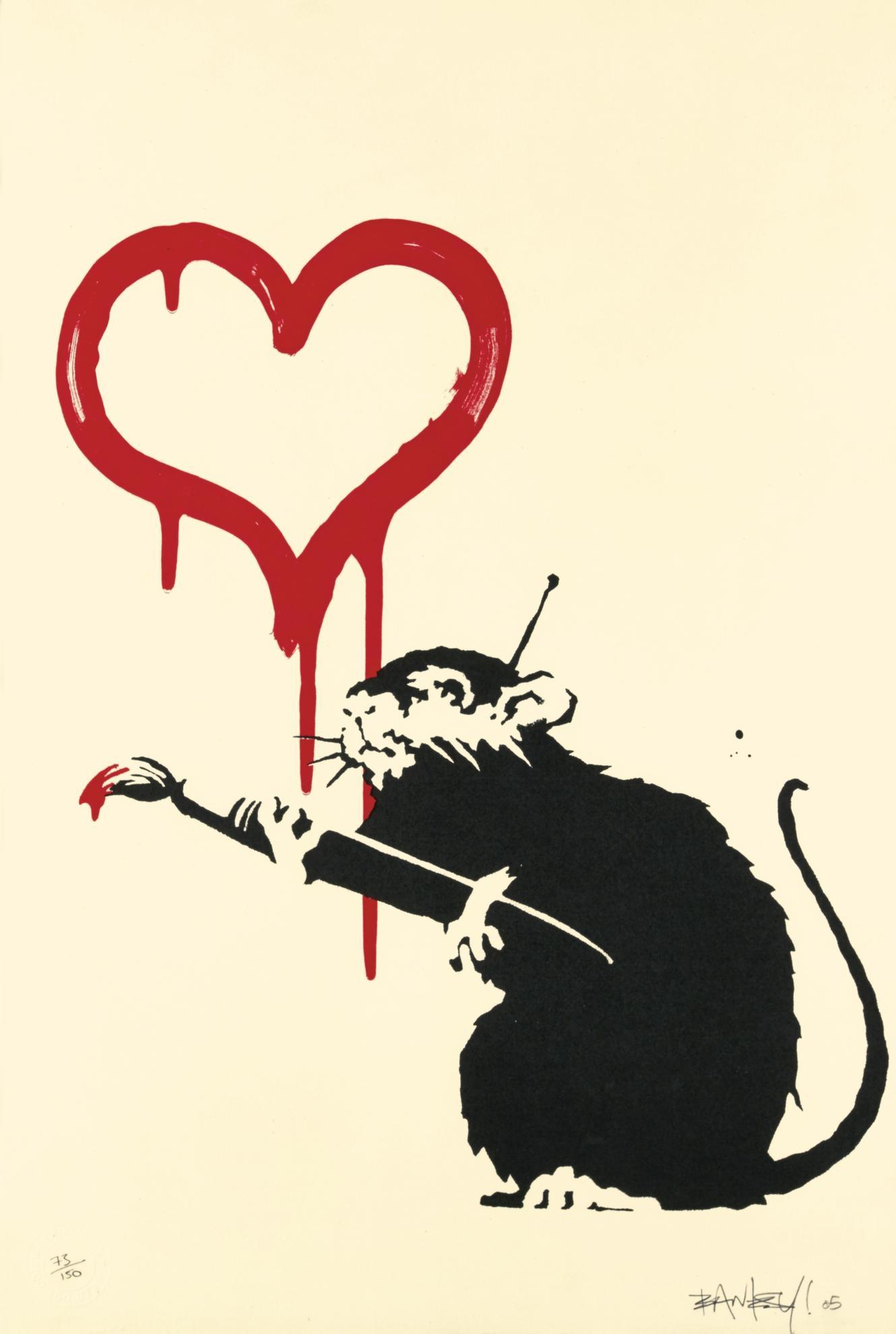 Banksy-Love Rat-2005