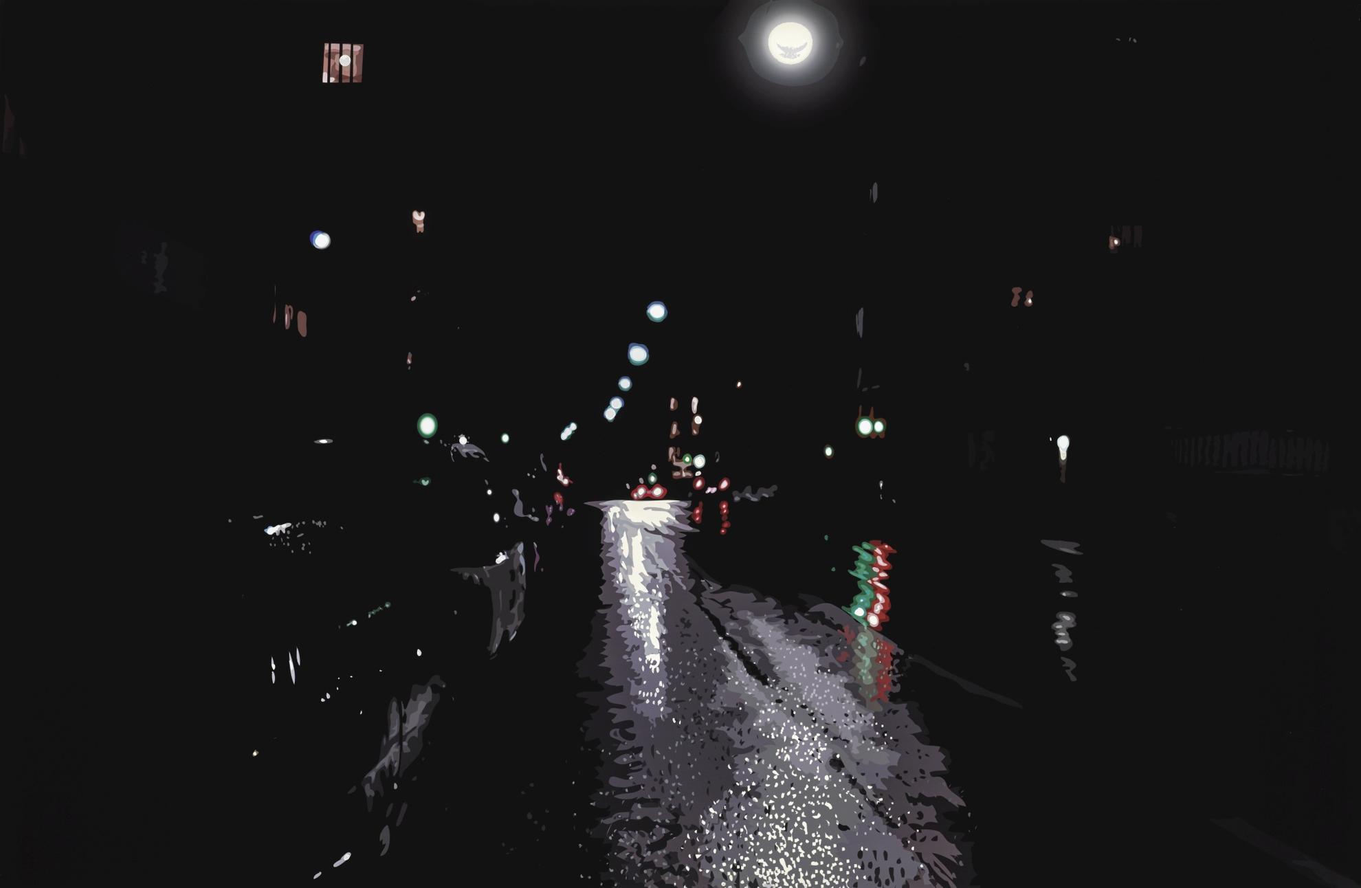 Julian Opie-Rain Footsteps Siren (C. 18)-2000
