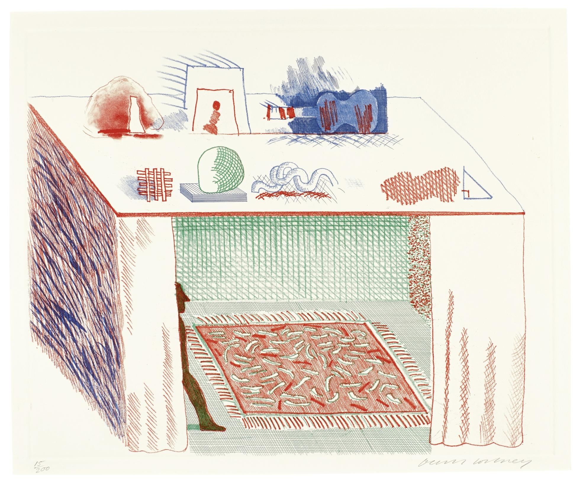 David Hockney-In A Chiaroscuro (Scottish Arts Council 207; Museum Of Contemporary Art Tokyo 186)-1977
