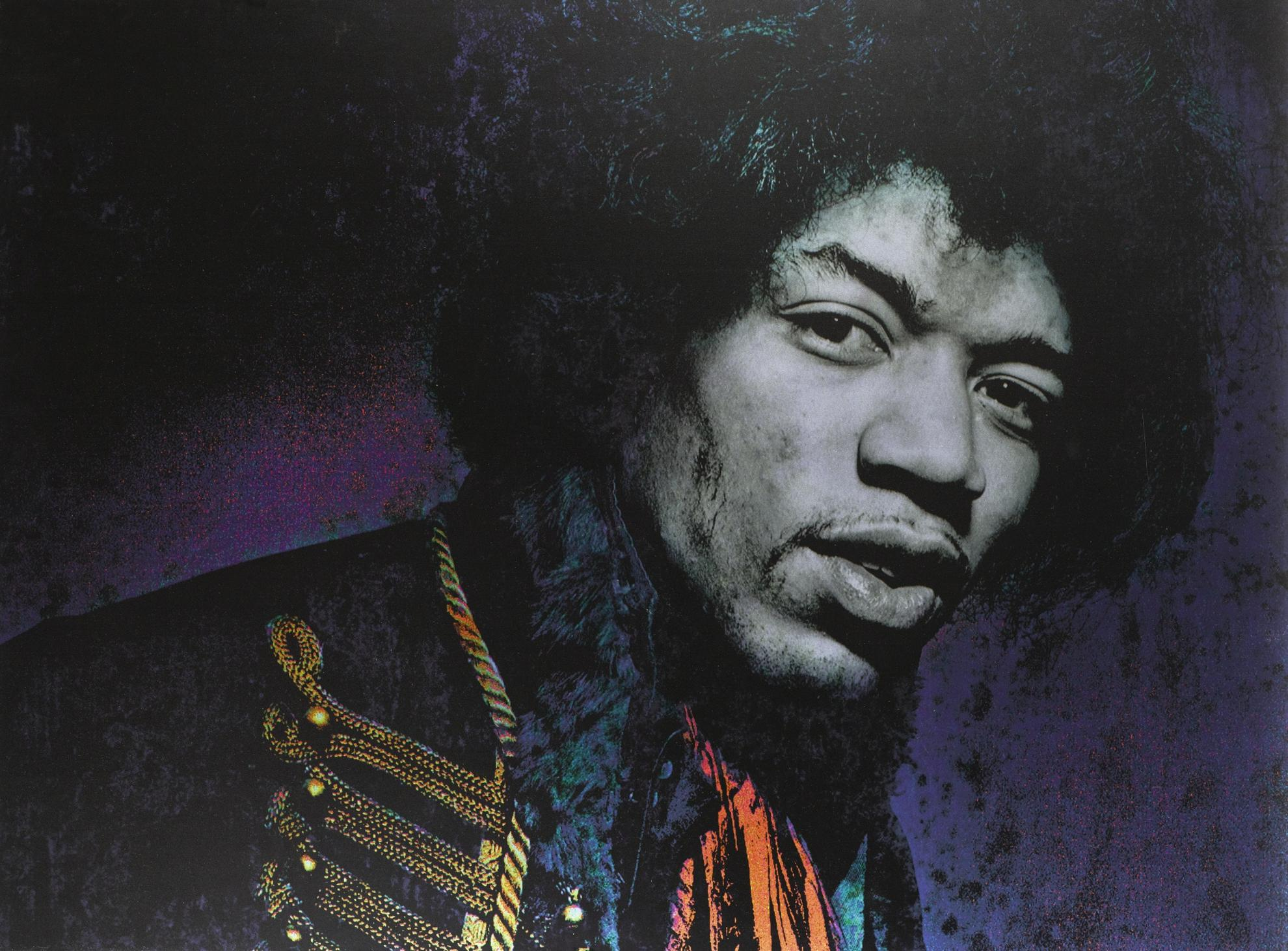 Gered Mankowitz-Jimi Hendrix, Blue Metal, Masons Yard-1967