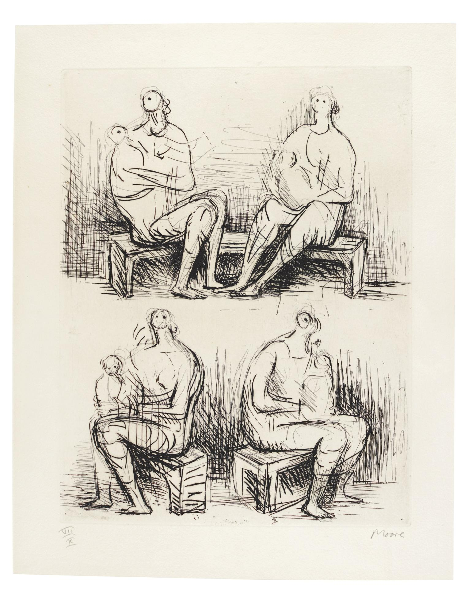 Henry Moore-Four Mothers (Cramer 186)-1972