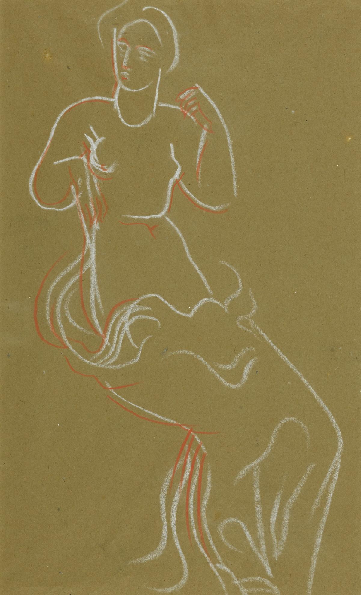 Christopher Wood-Female Nude-