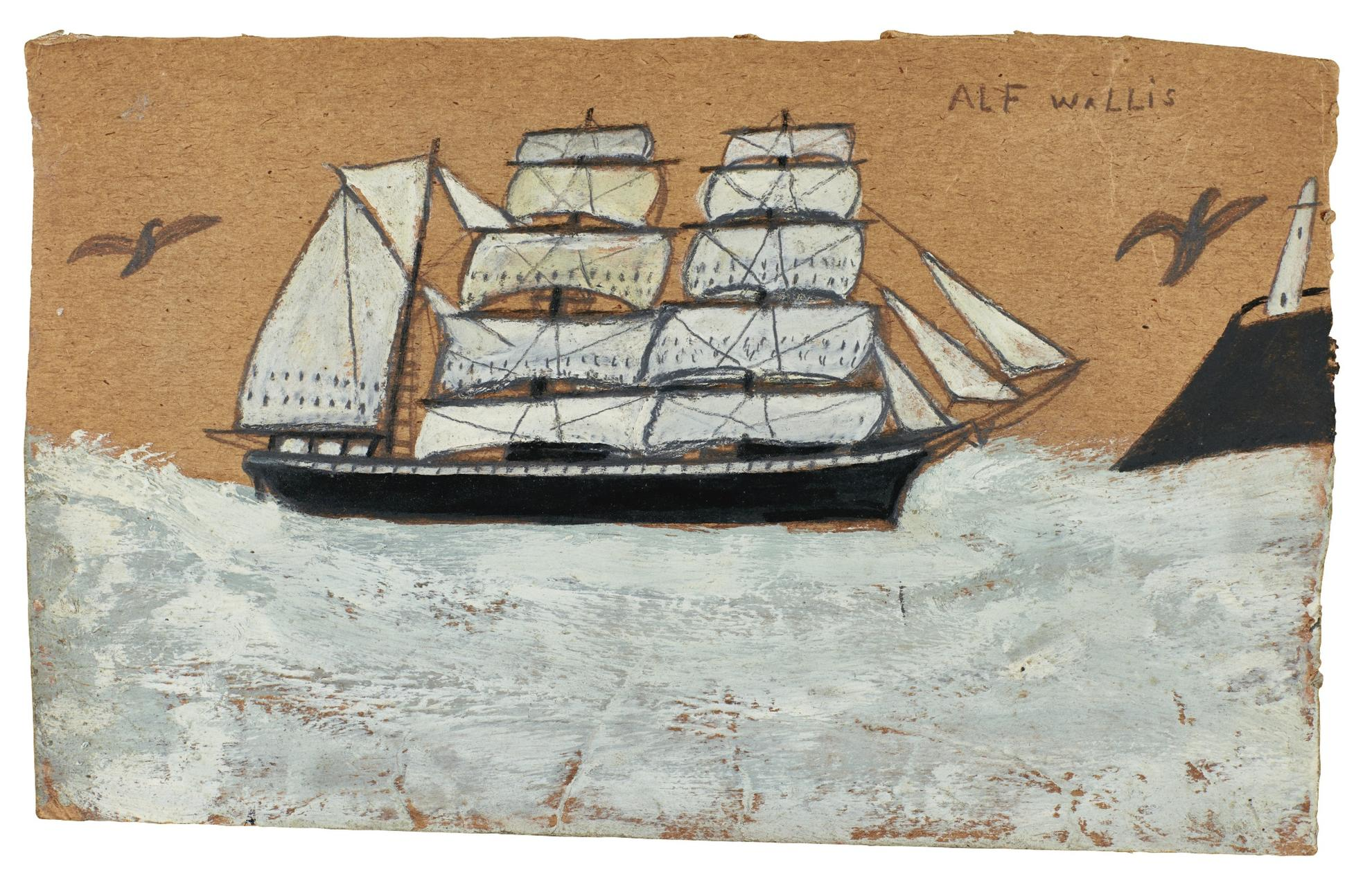 Alfred Wallis-Barque And Lighthouse-