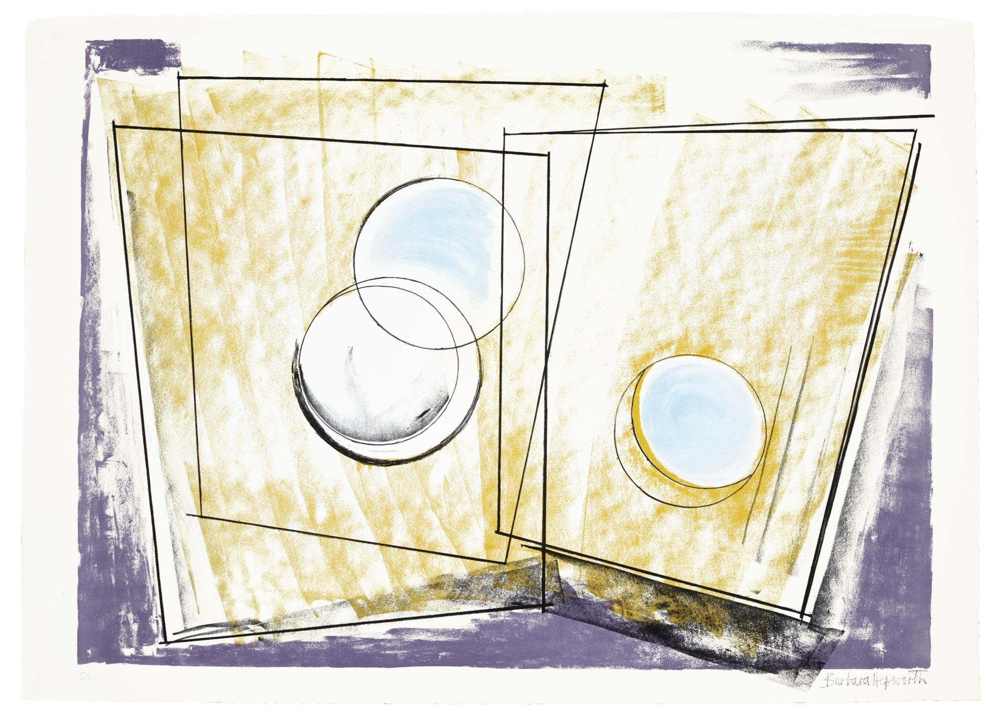 Barbara Hepworth-Oblique Forms; And Squares And Circles-1969