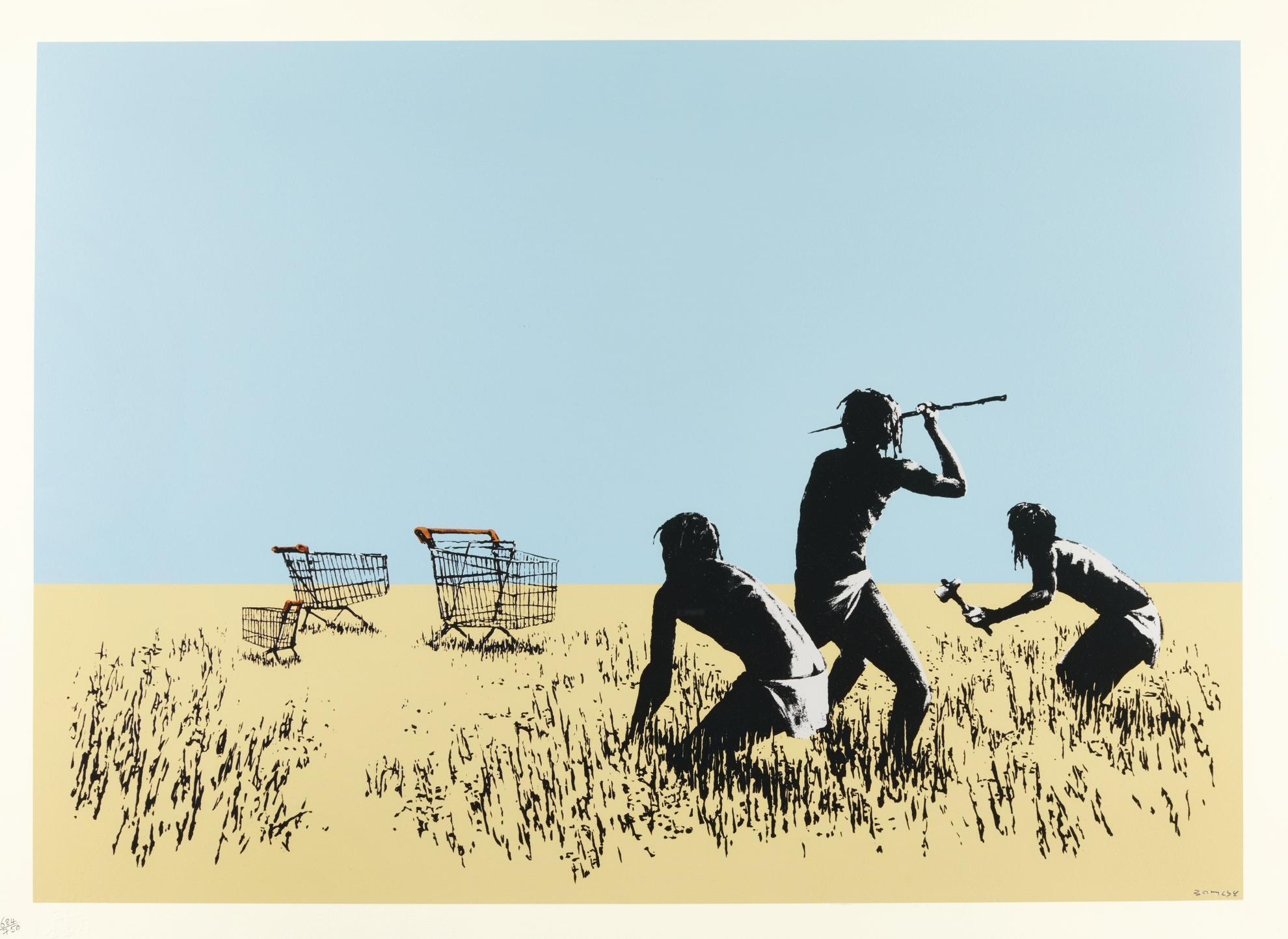 Banksy-Trolleys (Colour)-2007