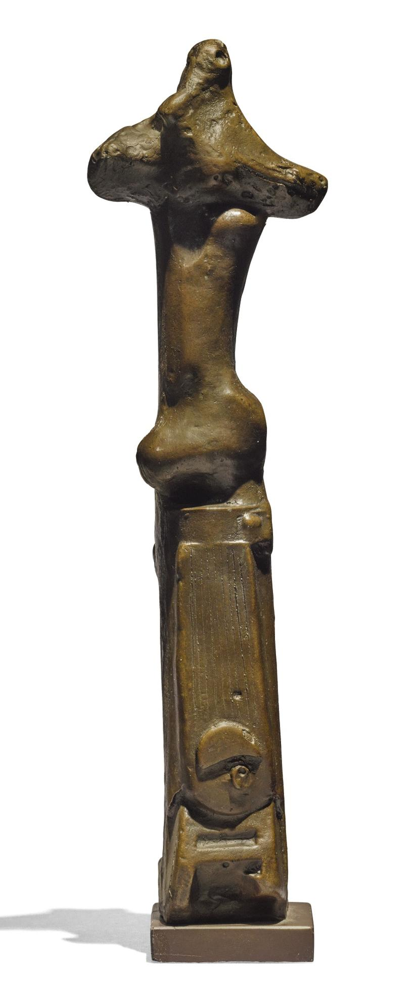 Henry Moore-Upright Motive: Maquette No.1-1955