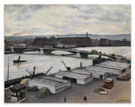 Albert Marquet-Rouen, Quai De Paris, Temps Gris-1912