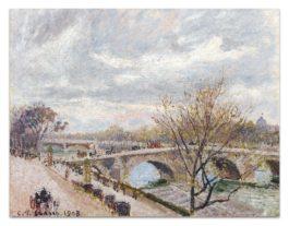 Camille Pissarro-Le Pont-Royal, Apres-Midi, Temps Couvert, 4E Serie-1903