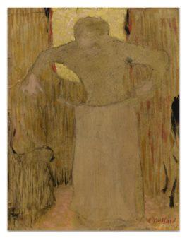 Edouard Vuillard-Femme Mettant Son Tablier-1890