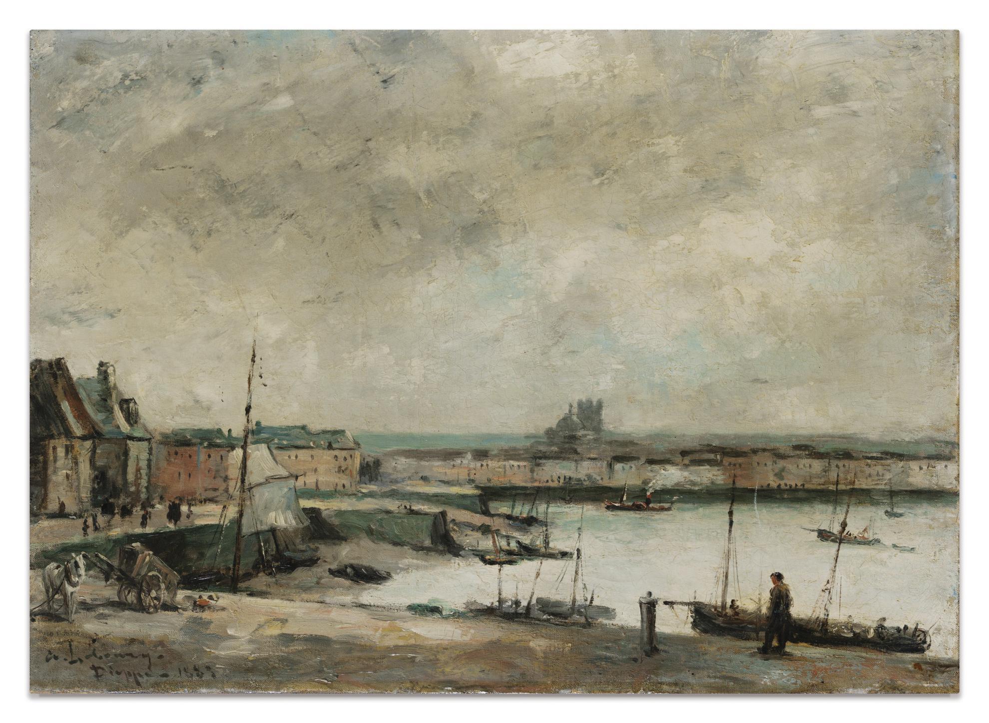 Albert Lebourg-Dieppe, Le Port-1883