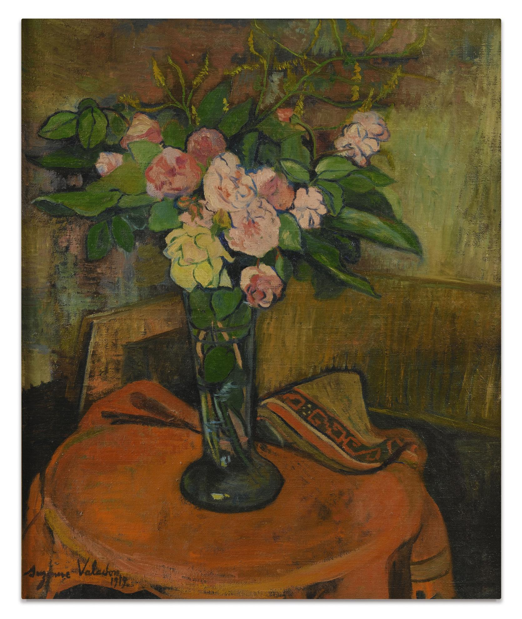 Suzanne Valadon-Bouquet De Fleurs Dans Un Vase-1919