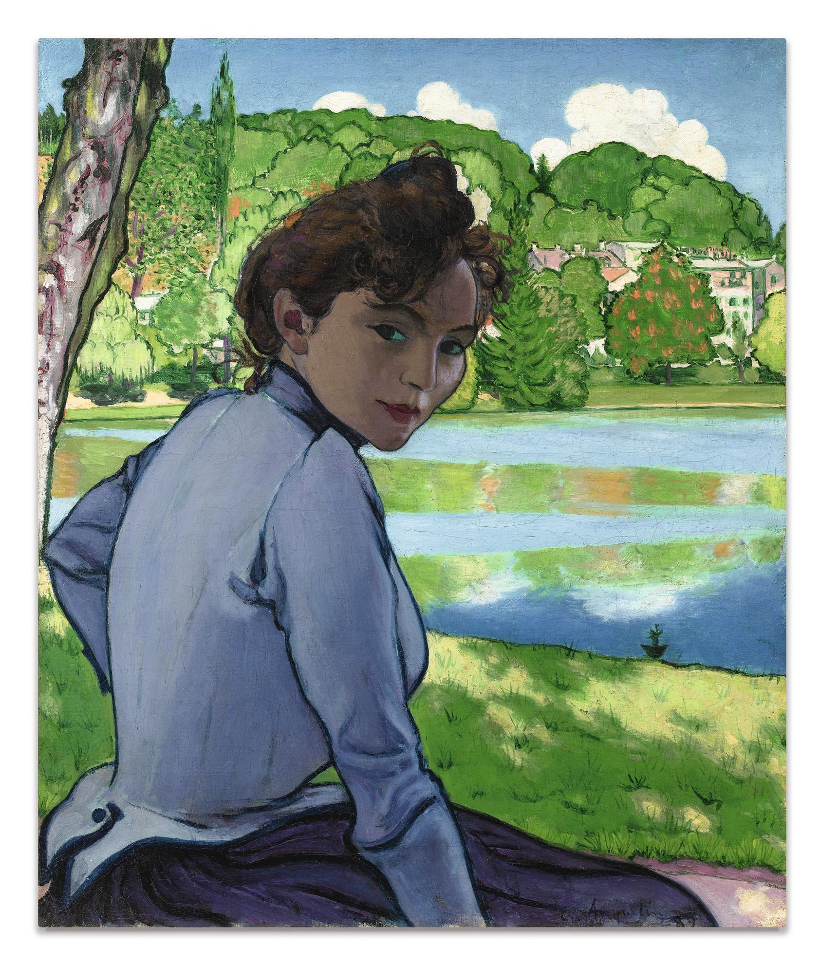 Louis Anquetin - Femme Au Bord De Leau-1889