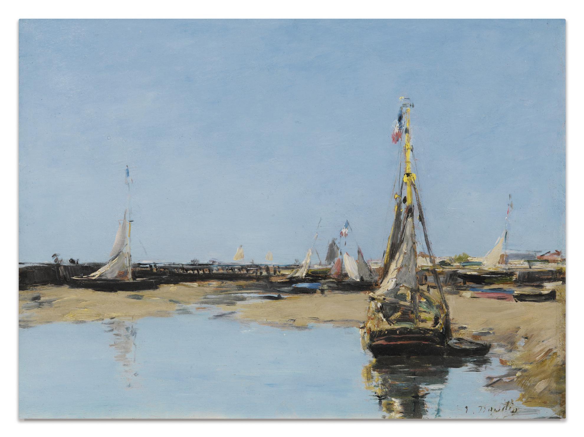 Eugene Louis Boudin-Trouville. Les Jetees Maree Basse-1881