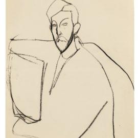 Amedeo Modigliani-Paul Alexandre Assis De Trois Quarts Vers La Gauche, Vu Jusqua Mi-Corps, Bras En Rond-1911