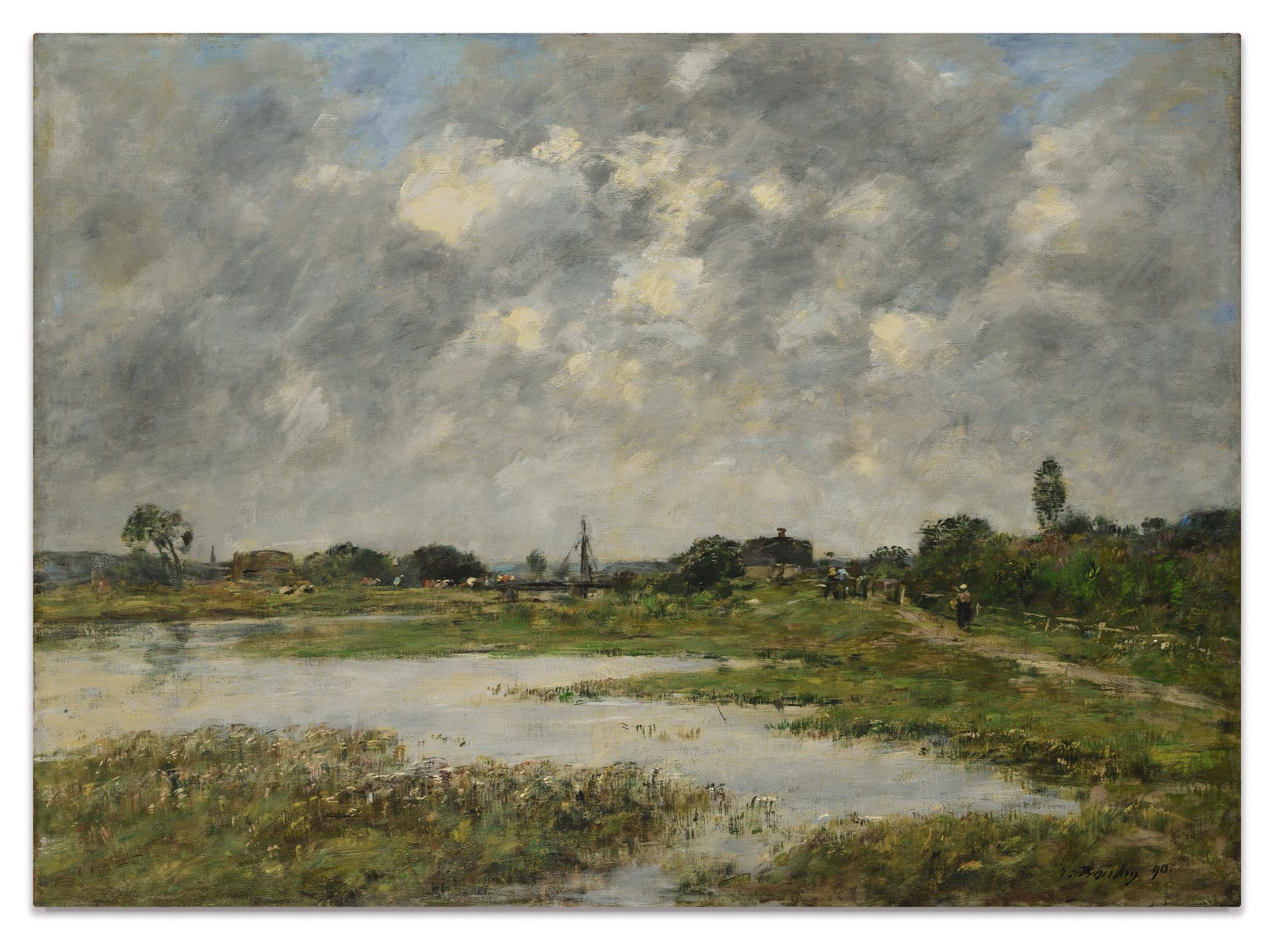Eugene Louis Boudin-La Touques A Trouville-1890