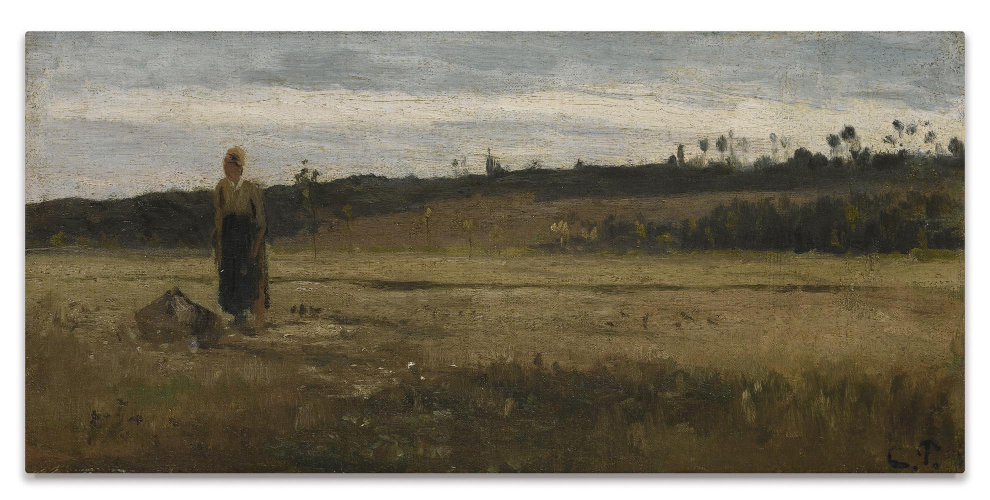 Camille Pissarro-Paysage Dans Un Champ, La Varenne, Saint-Hilaire-1865