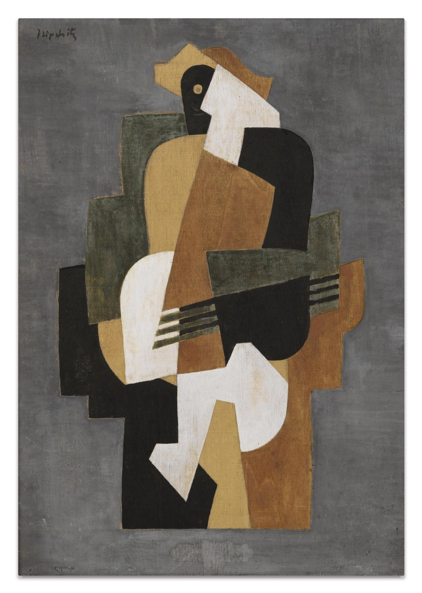 Jacques Lipchitz-Composition Cubiste-1918
