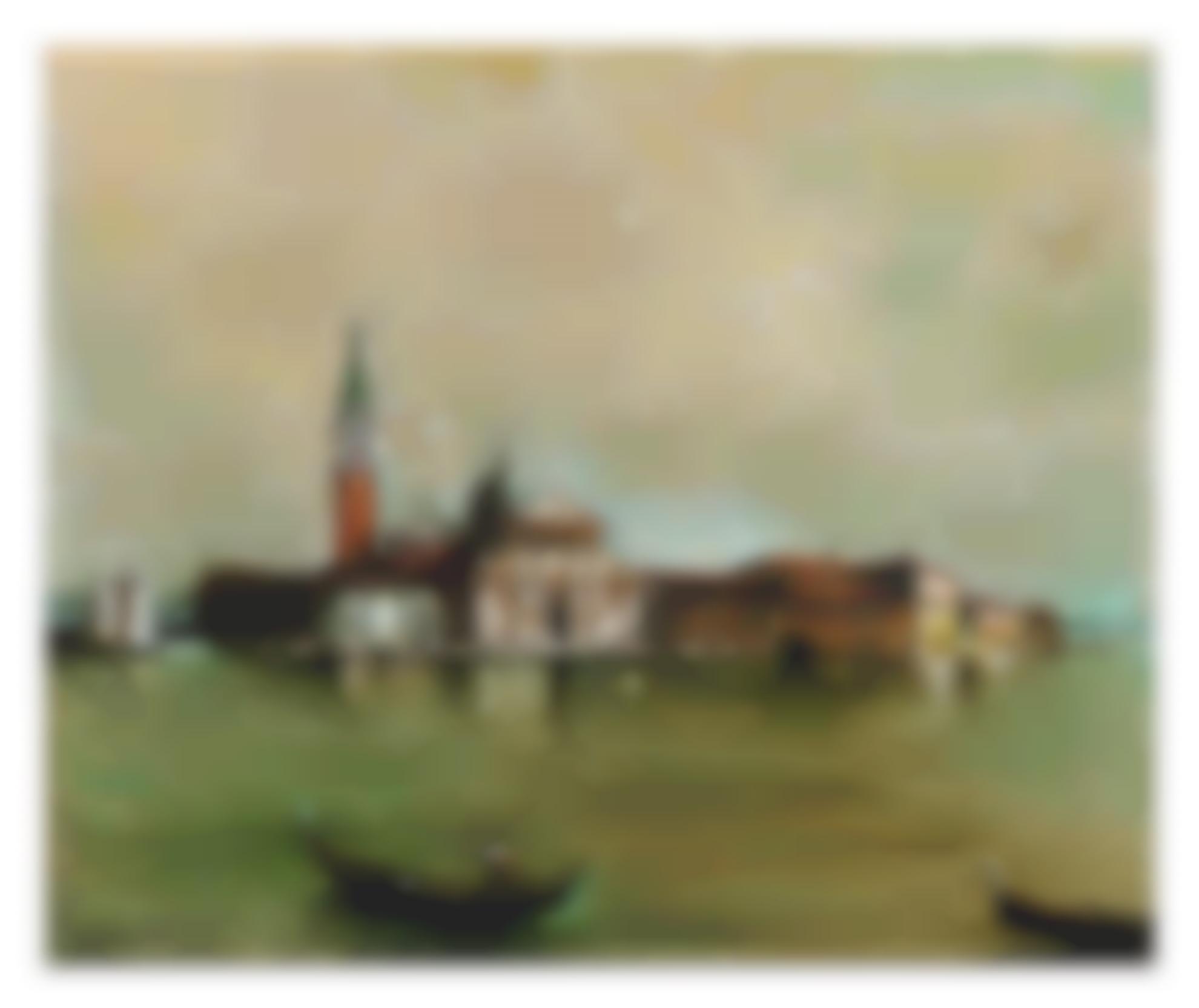 Giorgio de Chirico-Venezia (Isola Di S. Giorgio)-1950