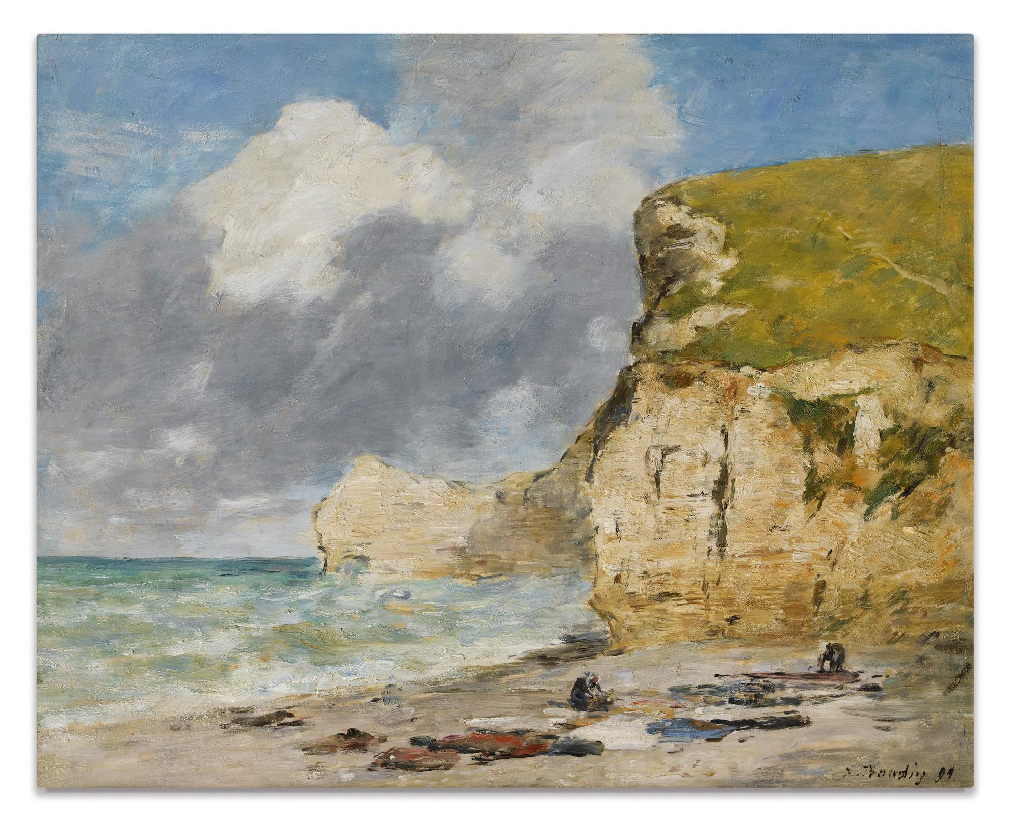 Eugene Louis Boudin-Etretat. La Falaise Damont-1891